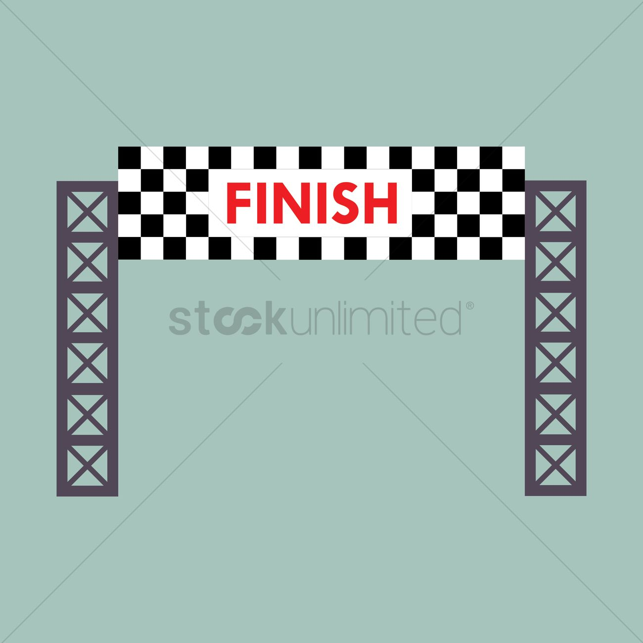 Finish line banner Vector Image - 1445594 | StockUnlimited