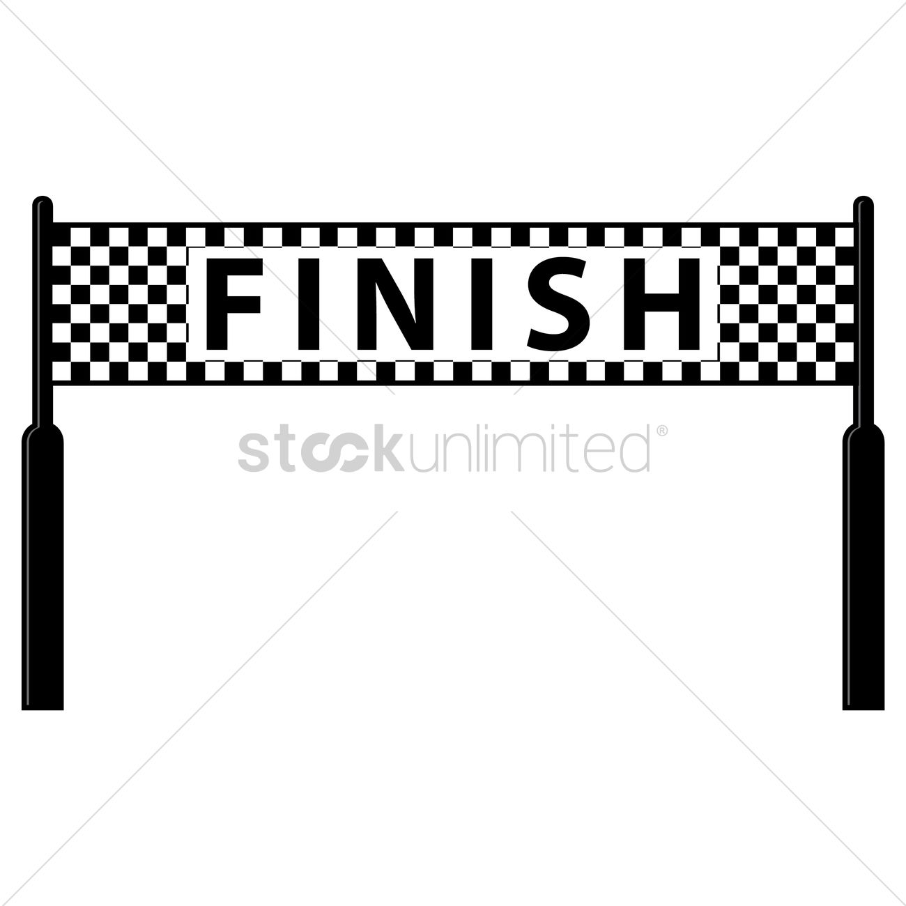 Finish Line Vector Image 1479002 Stockunlimited