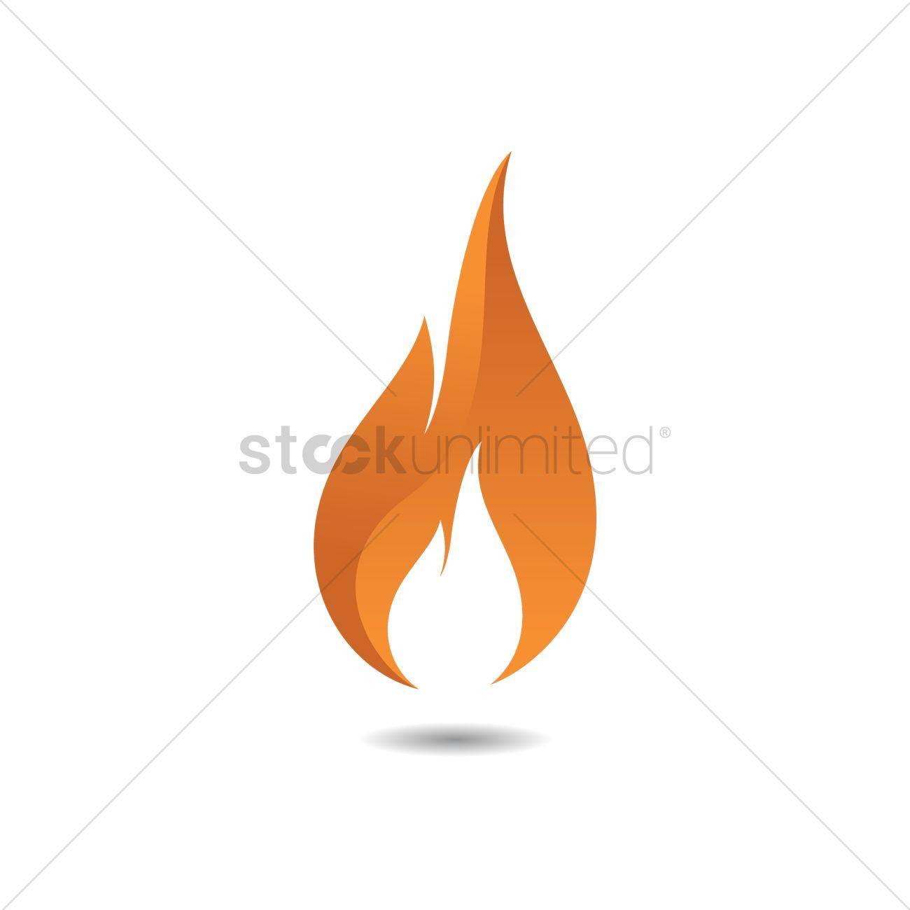 flame logo design vector image 1477186 stockunlimited