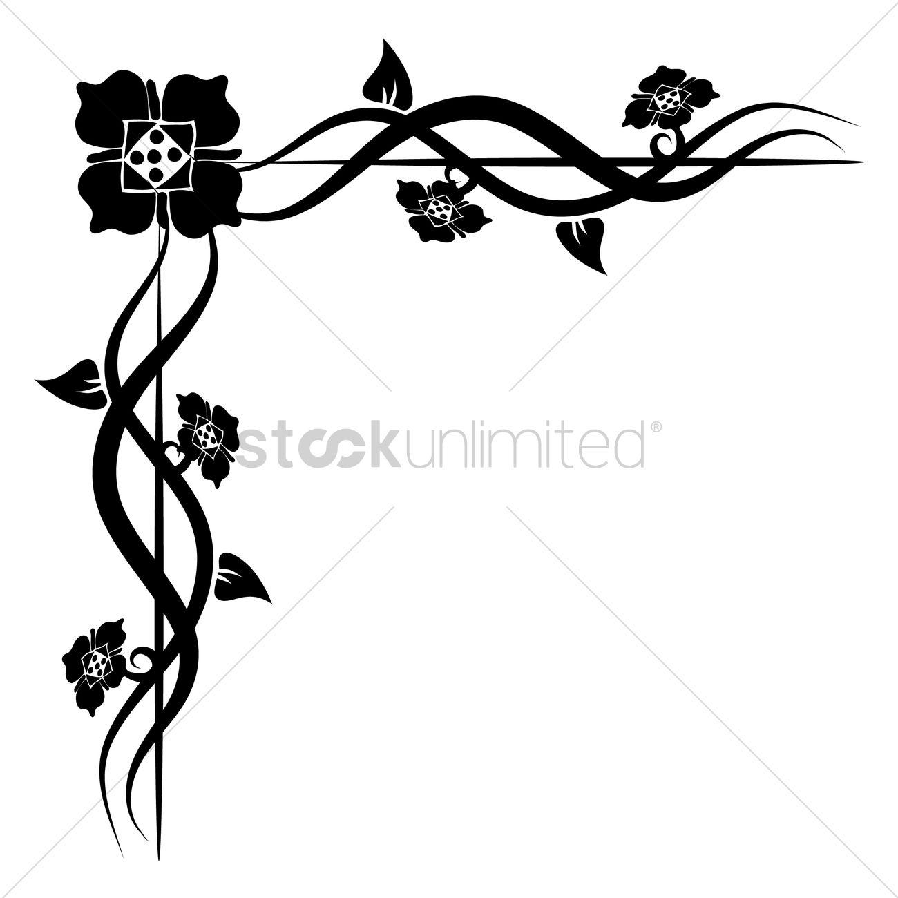 floral corner design vector image 1626880 stockunlimited