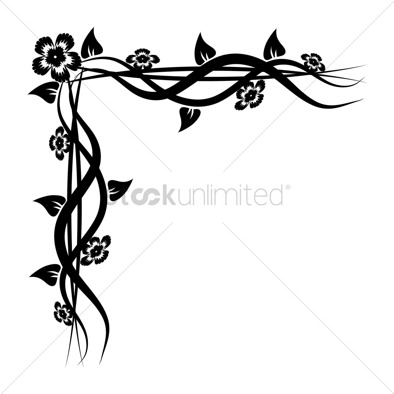 Elegant black and white border design