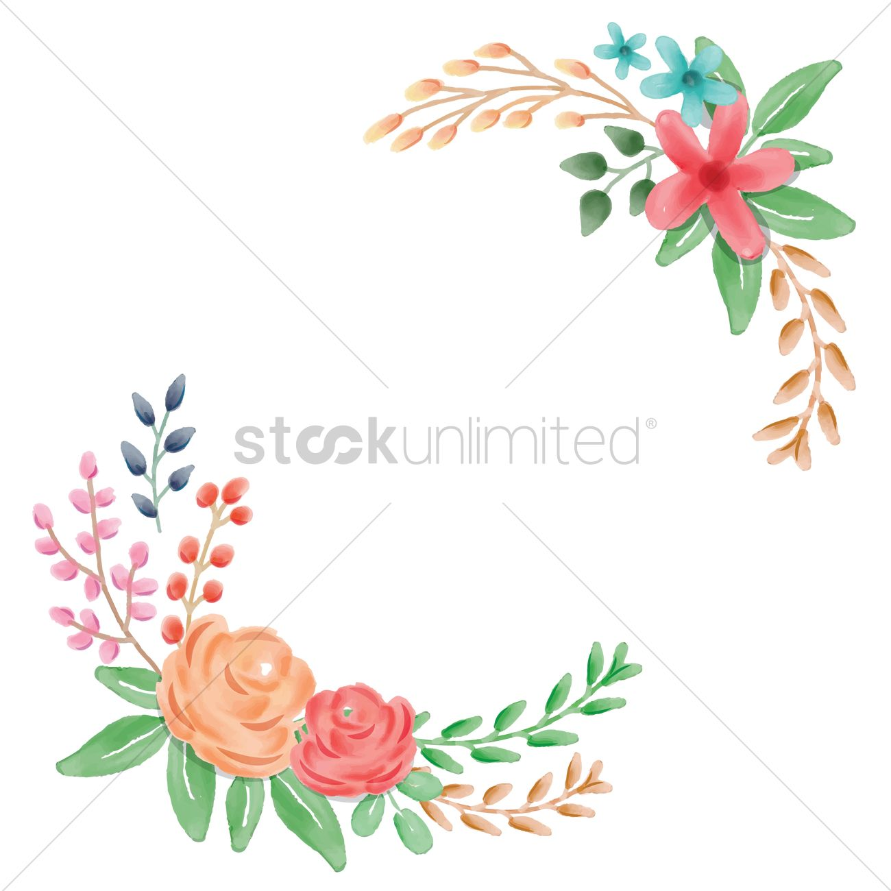 floral frame corner vector image 1694807 stockunlimited old photo frame with corner and empty field for your