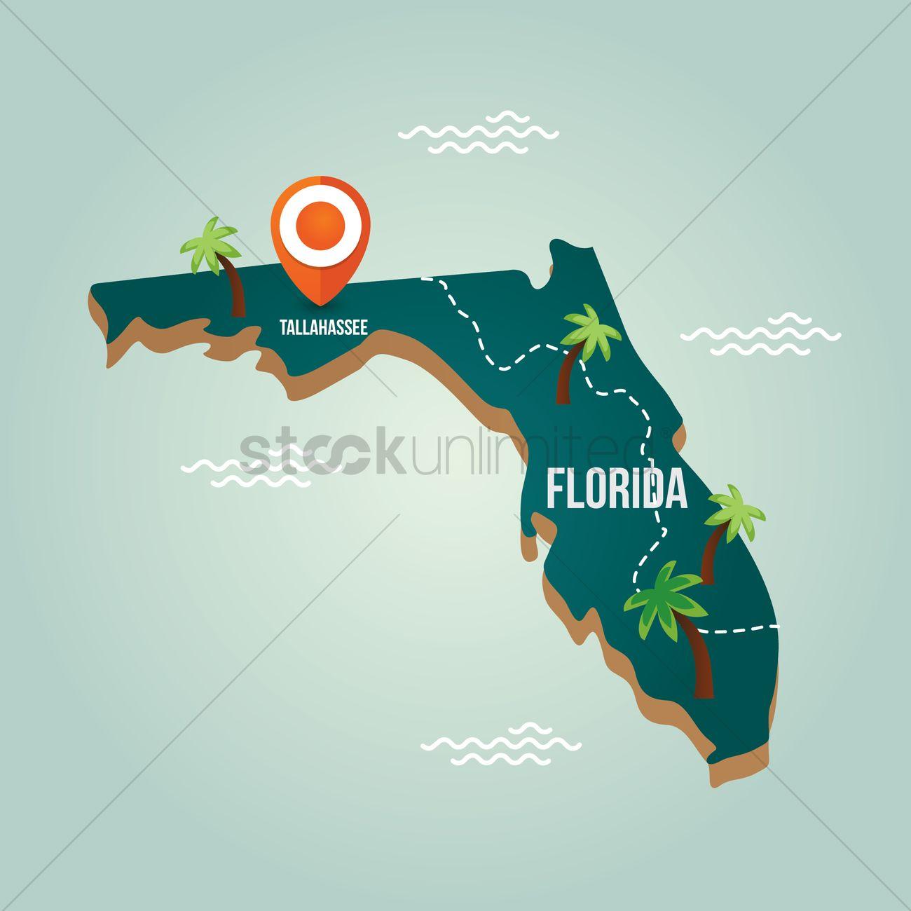 Oklahoma State States Location Pin Usa America United States Us - Florida map location
