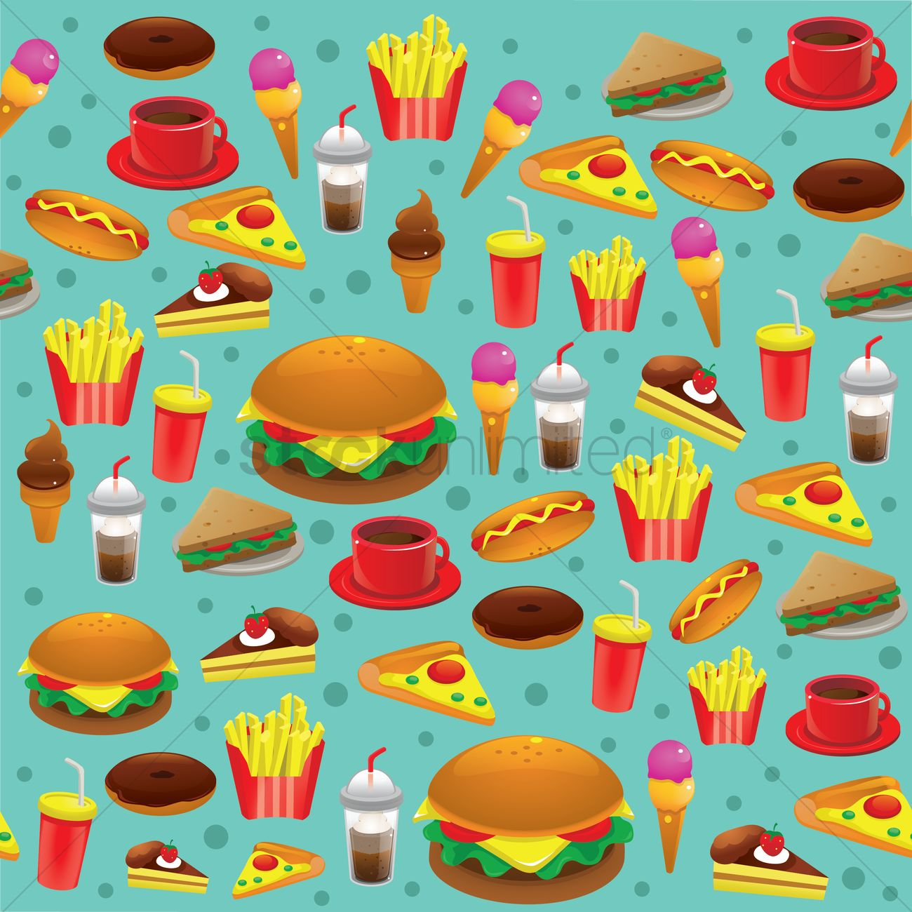 Food Background Vector Image - 1305818