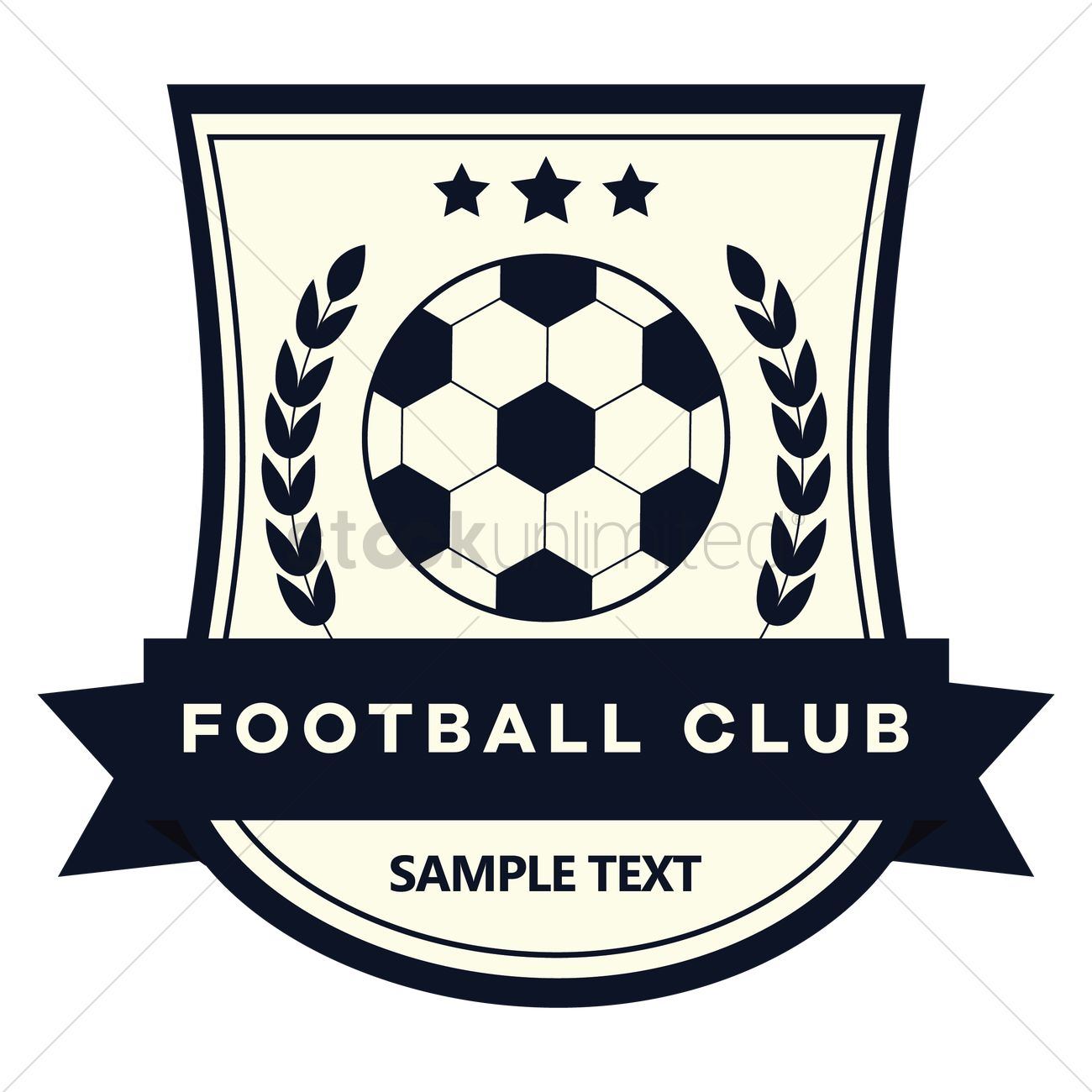 Football club logo with star