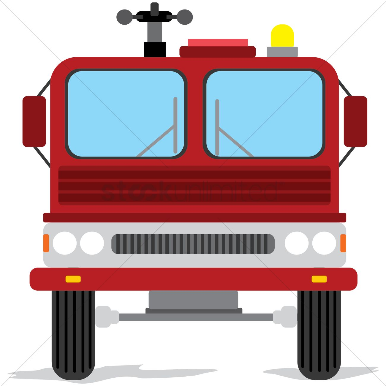 Front view of fire truck Vector Image - 1390822 ...