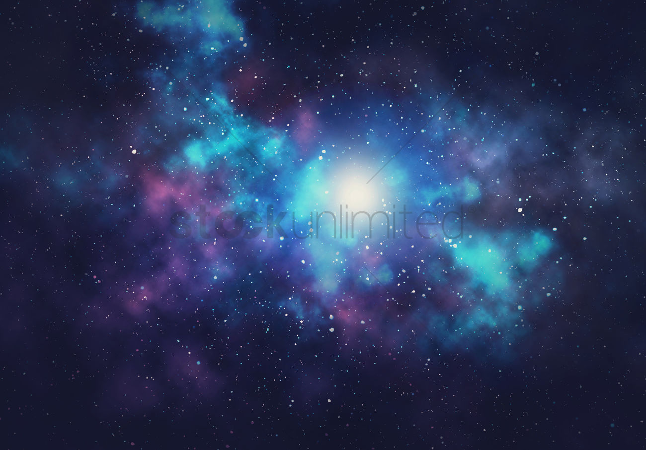 Galaxy Background Design Stock Photo 2001752