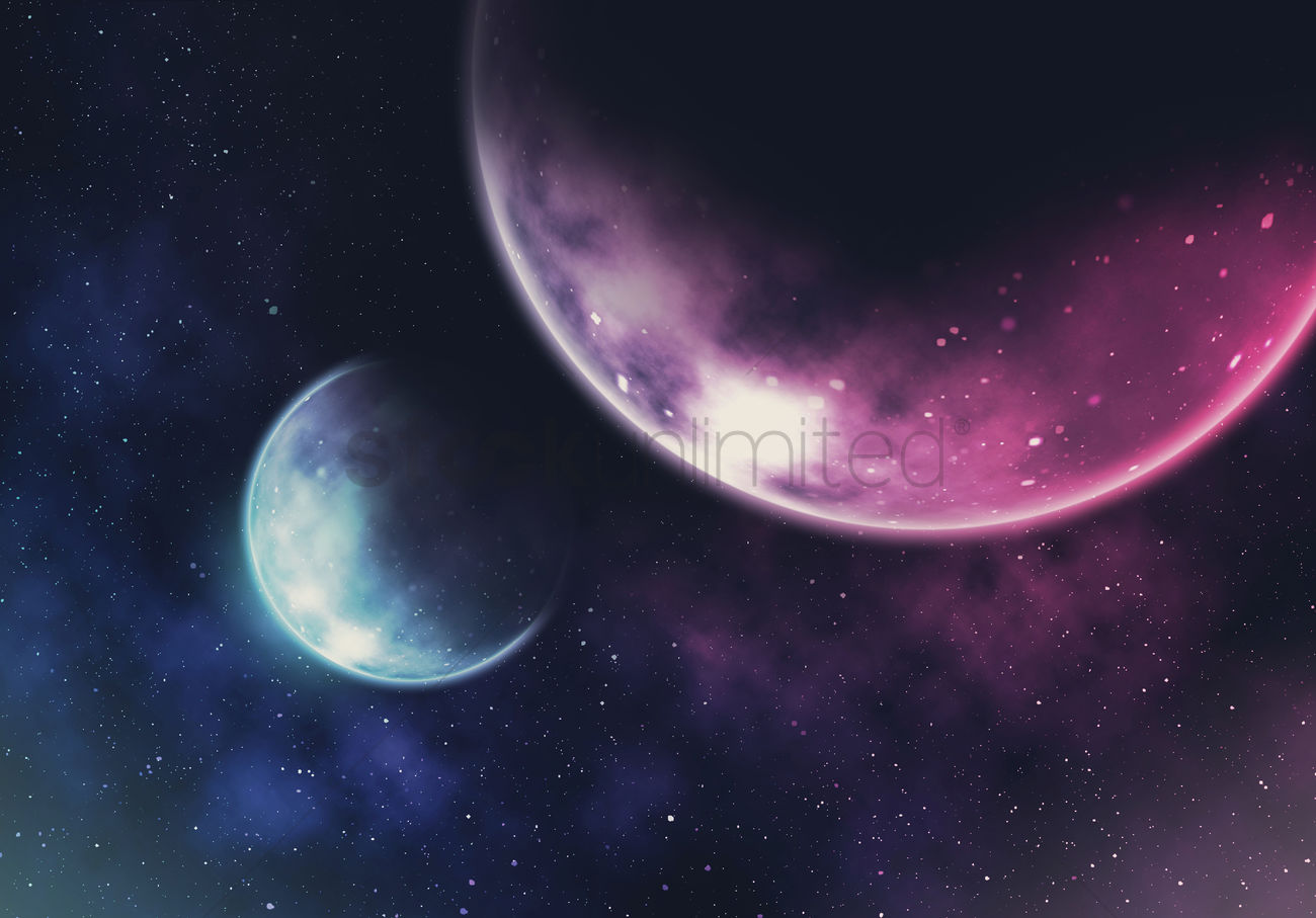 Galaxy Background Design Stock Photo 2001767