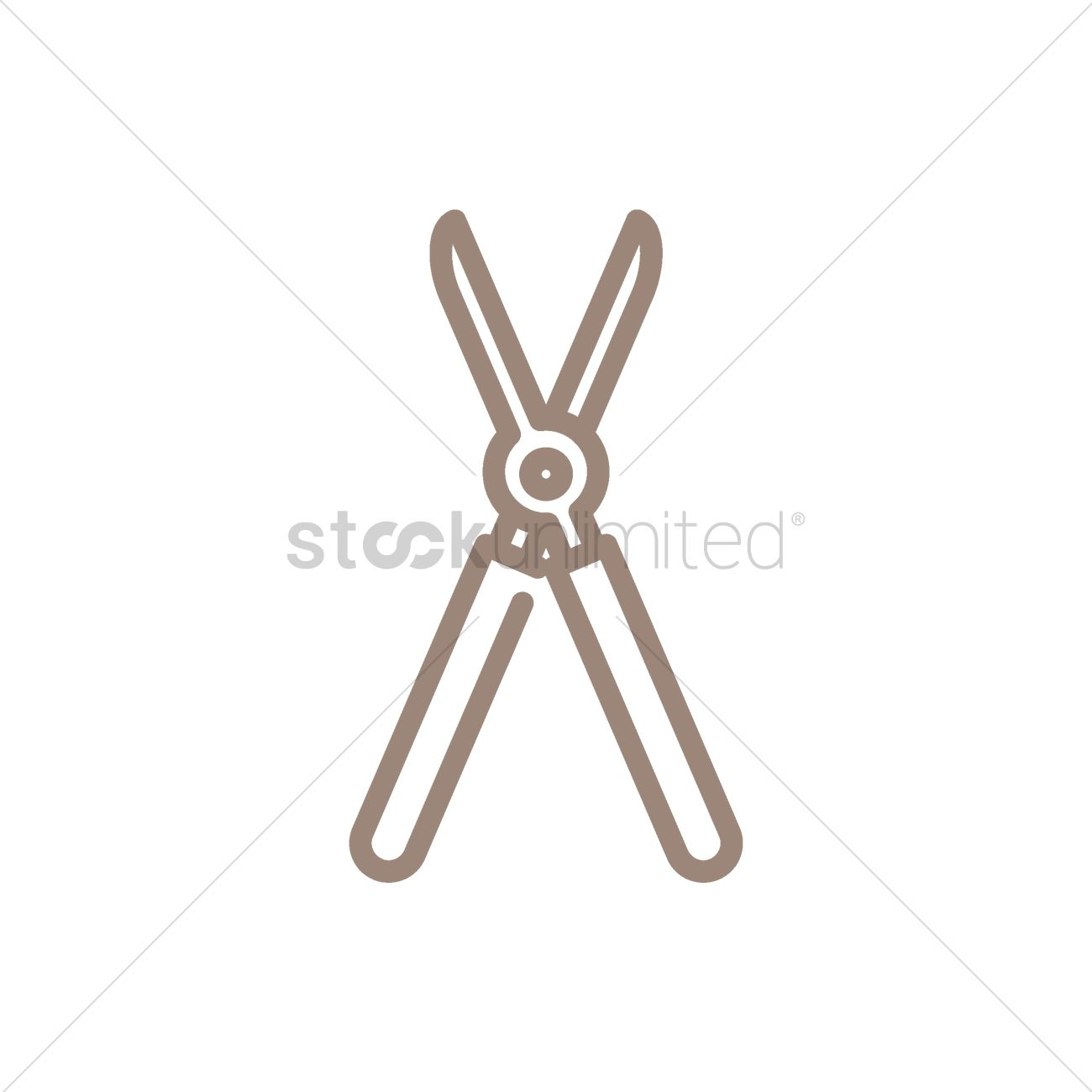 Garden clippers Vector Image 1942224 StockUnlimited