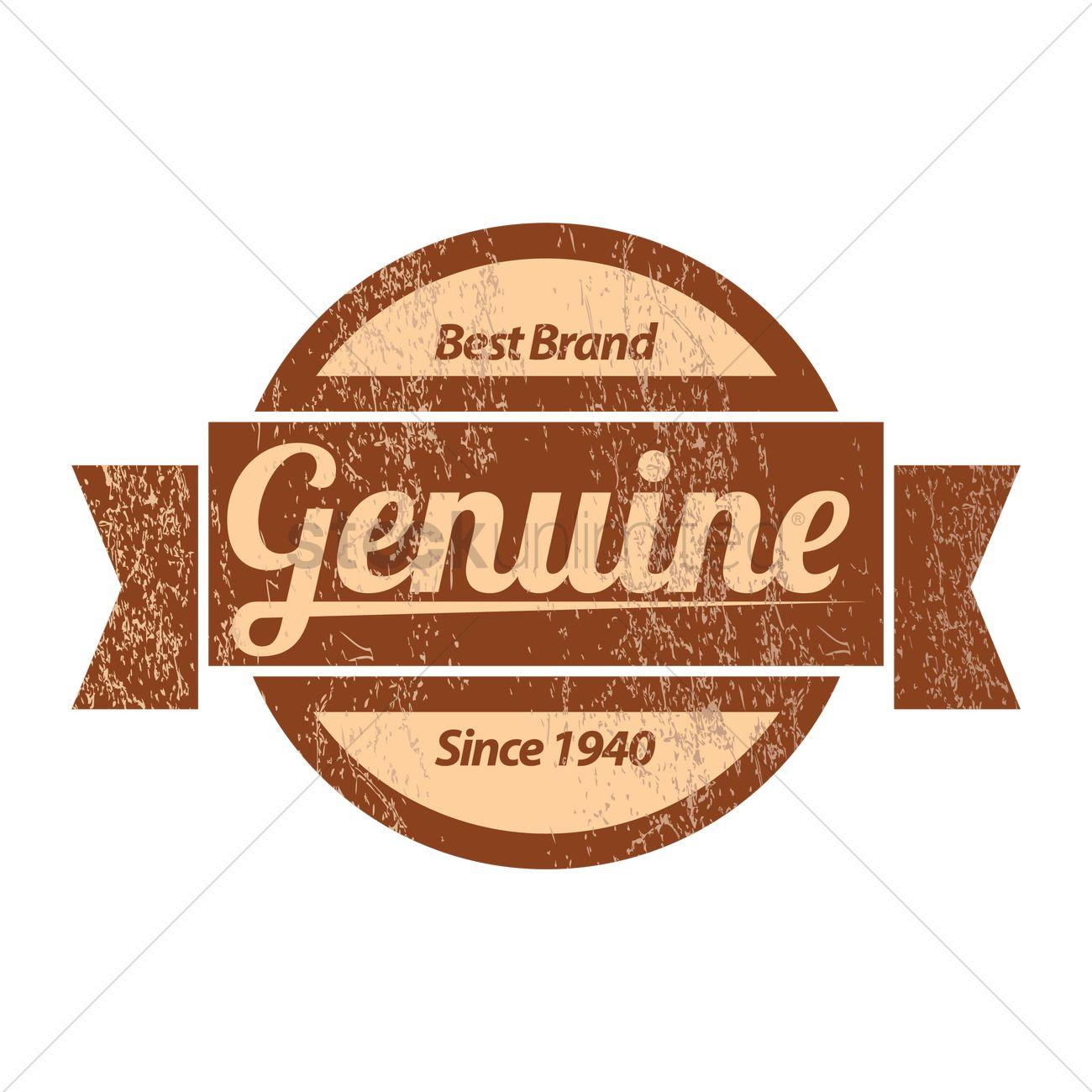 Free Genuine product label design Vector Image - 1441560 ...