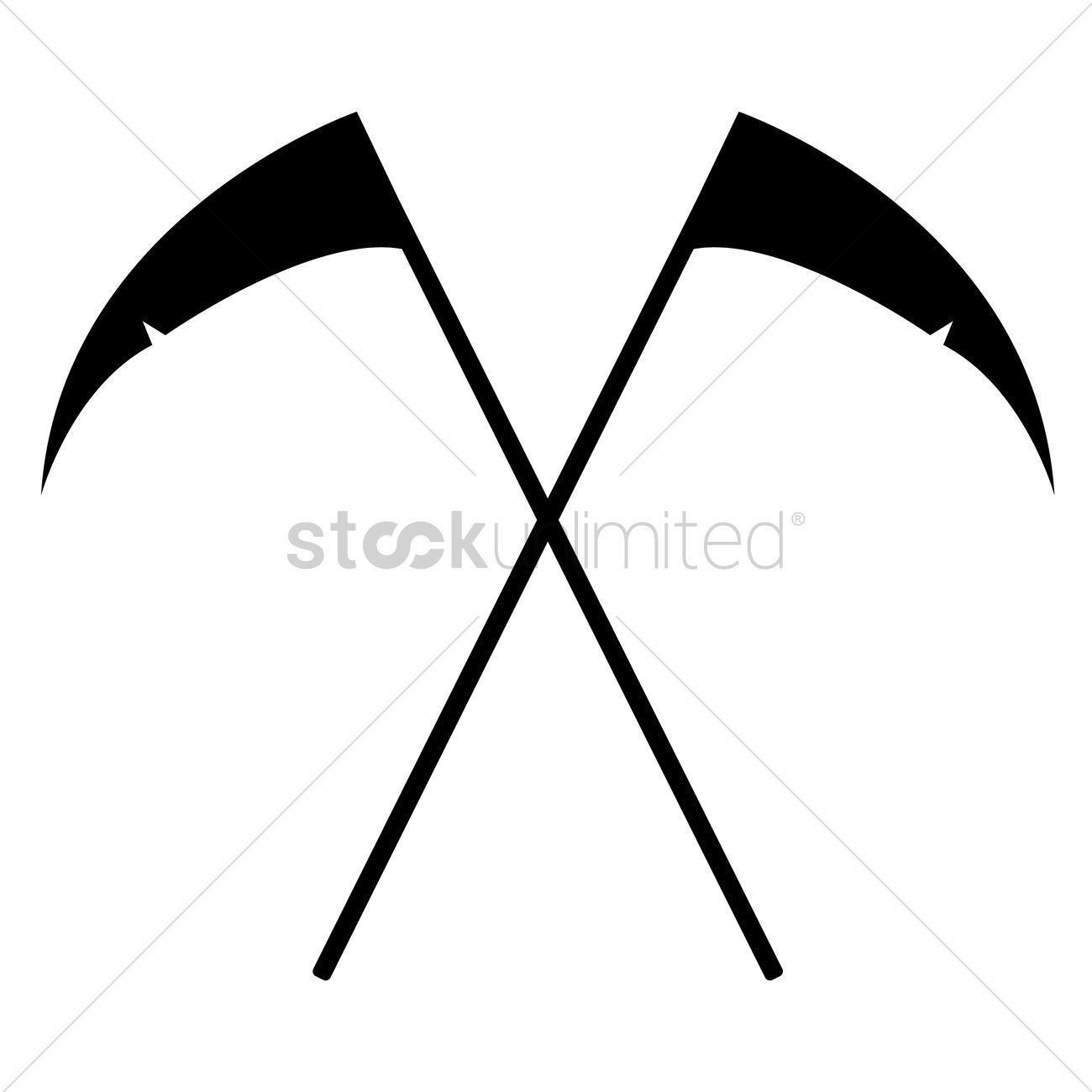 Grim reaper scythe silhouette Vector Image - 1484231   StockUnlimited
