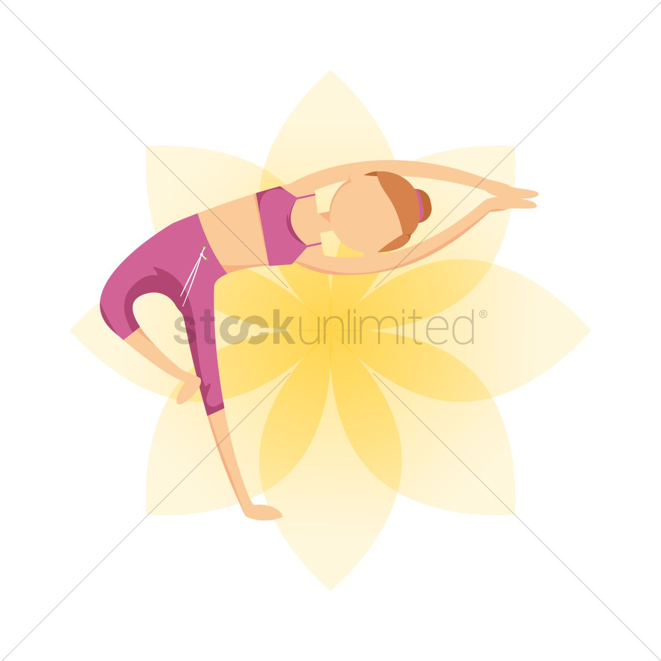 Half lotus tree pose Vector Image - 1448820 | StockUnlimited