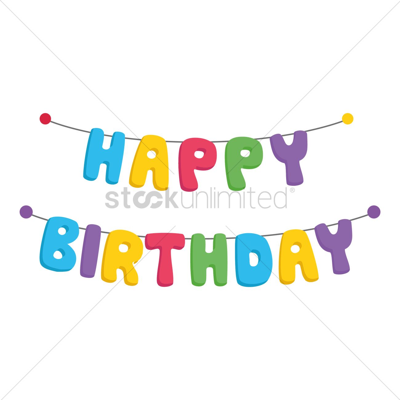 Happy Birthday Bunting Vector Image 1389010 Stockunlimited