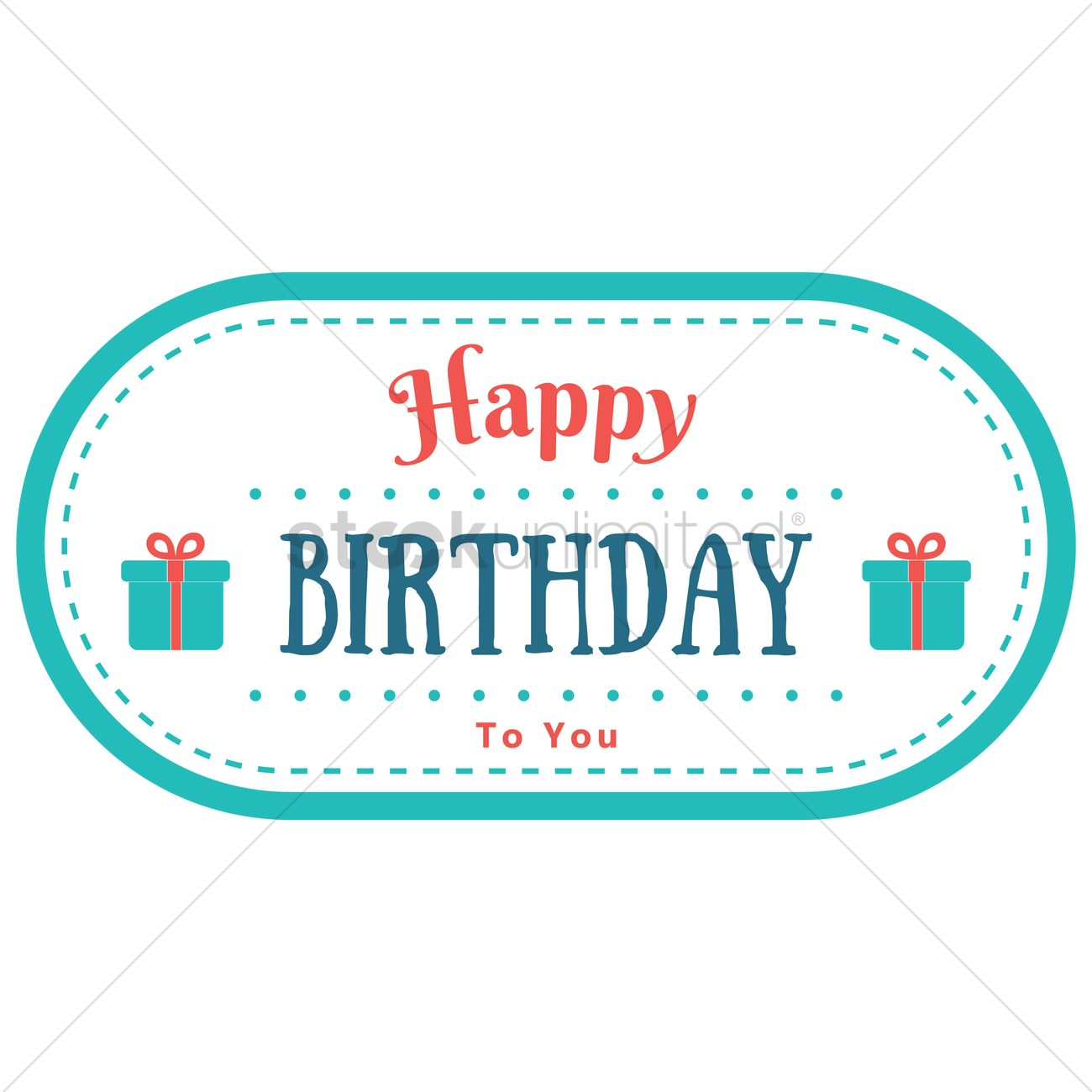 Happy birthday label design Vector Image - 1799688 | StockUnlimited