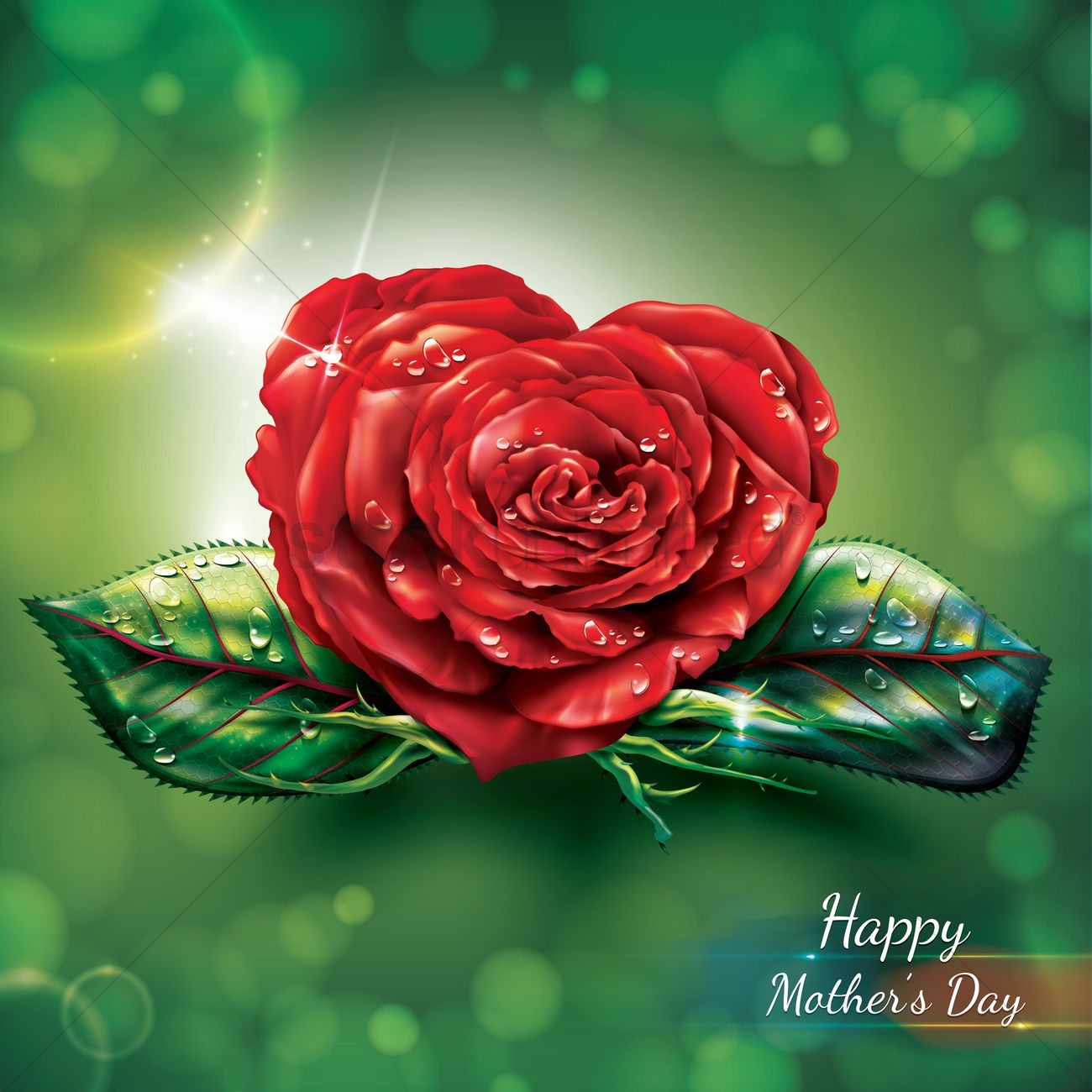 Happy mothers day card with rose Vector Image - 1810976 ...