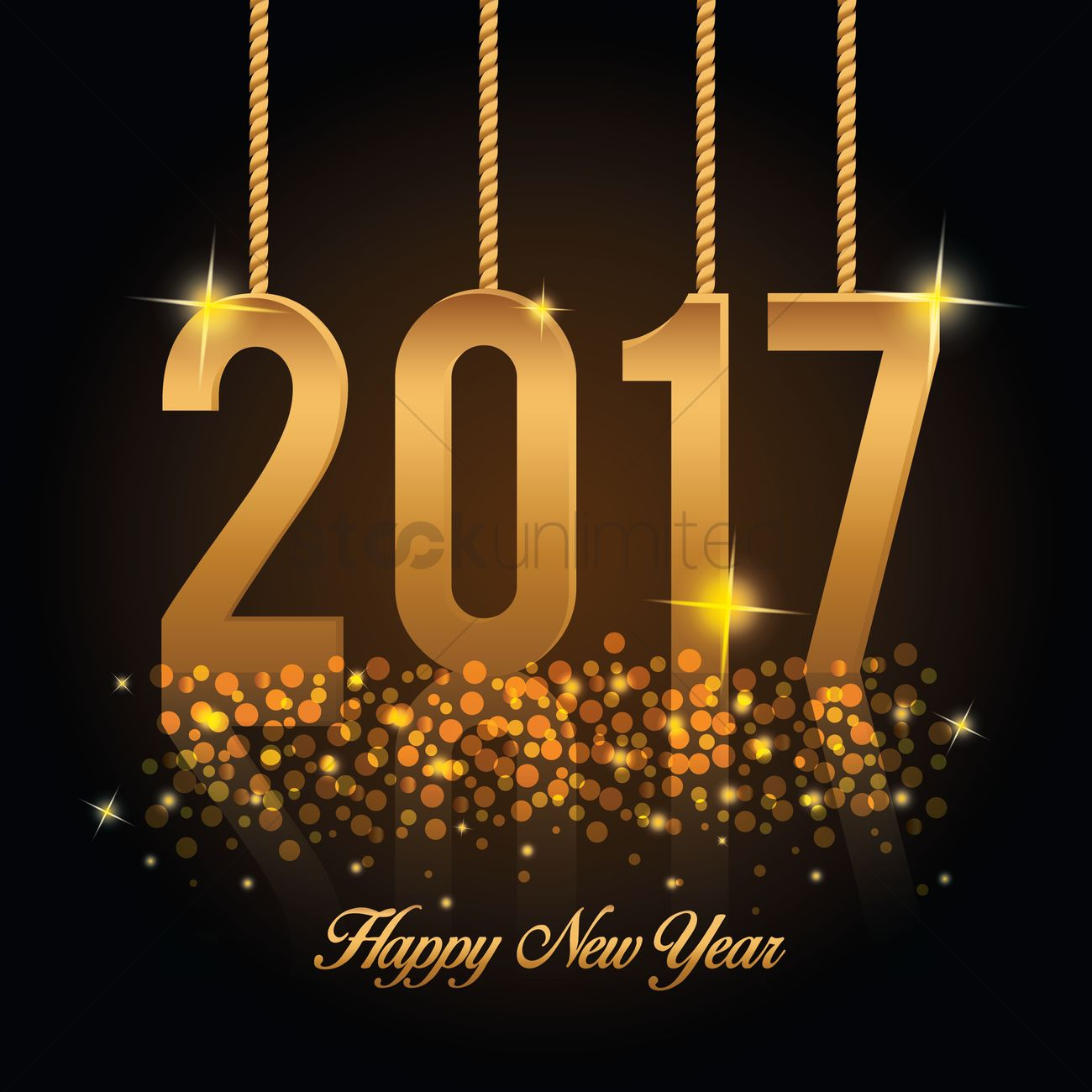 Happy New Year 2017 Wishes: Happy New Year 2017 Vector Image - 1913134