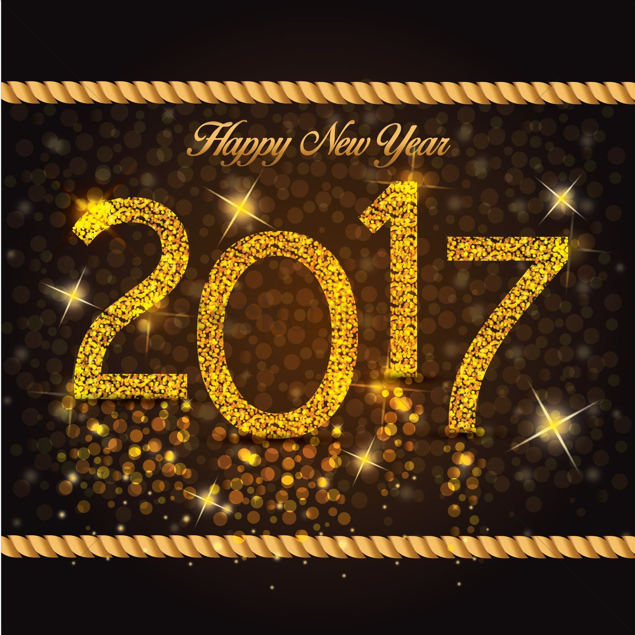 Happy new year 2017 Vector Image - 1913135 | StockUnlimited