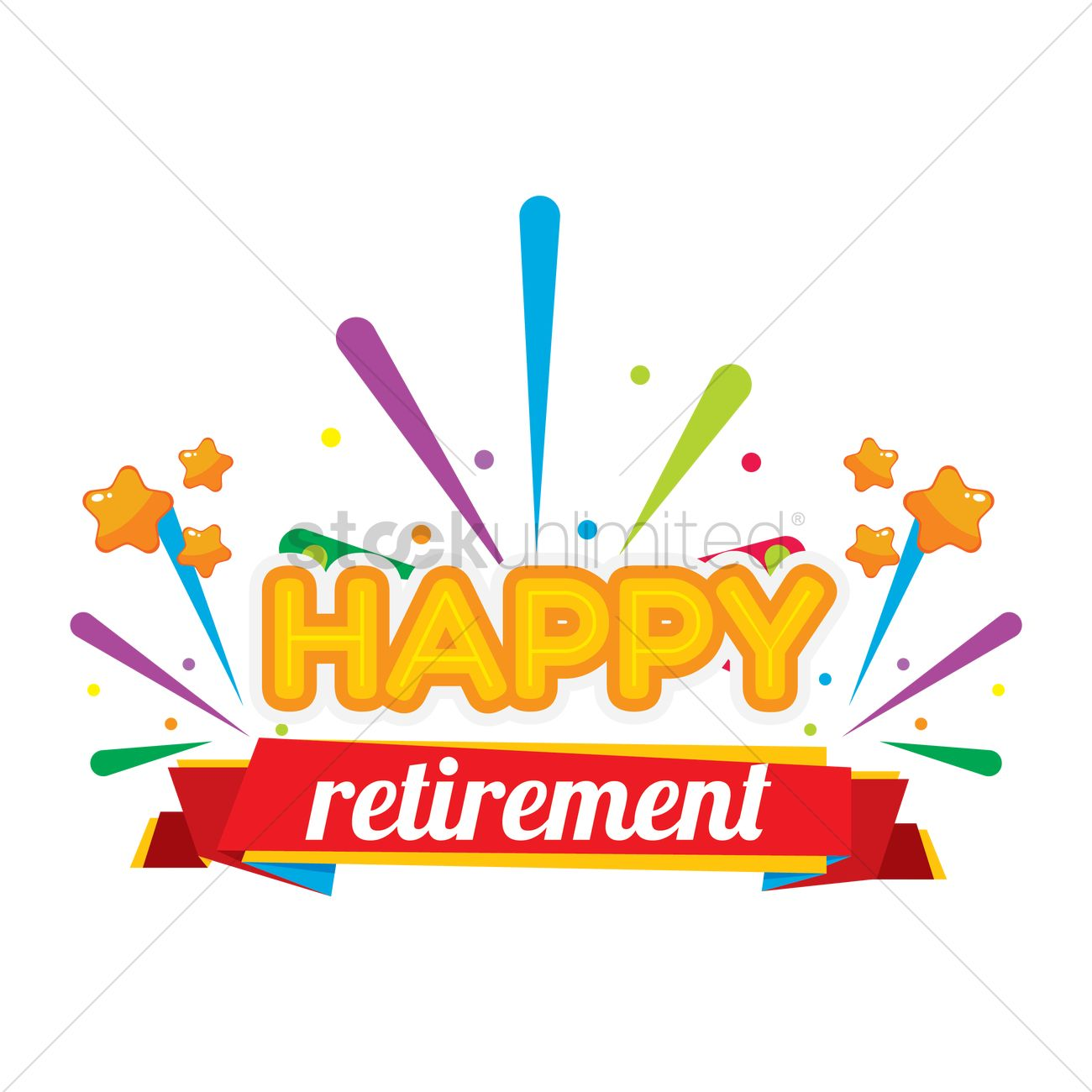 Happy retirement card Vector Image - 1707658 | StockUnlimited