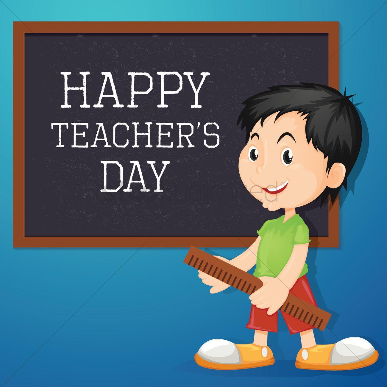 happy teacher's day design vector image  2007135