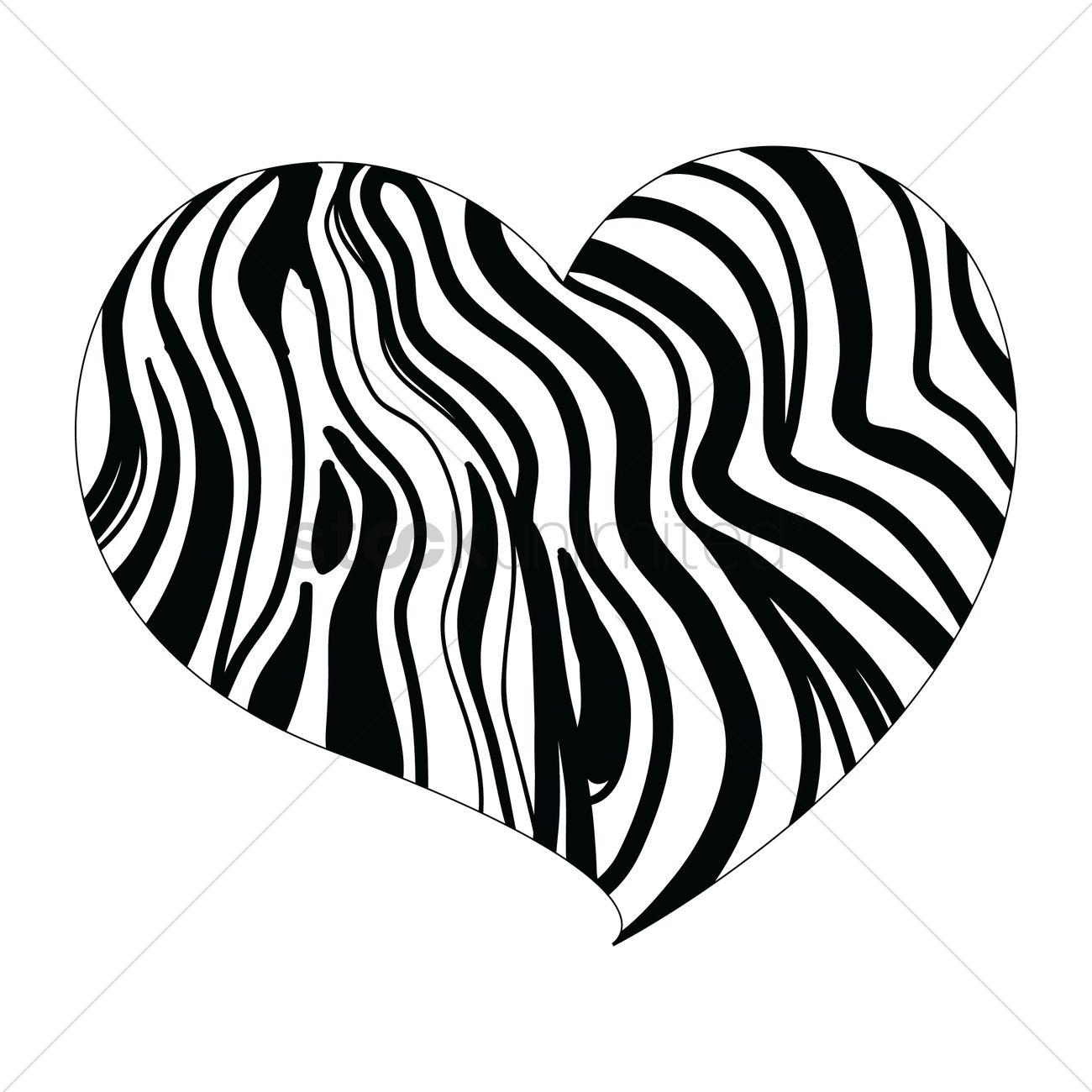 Vintage Giant Octopus Drawing Zebra Print Heart Pict...