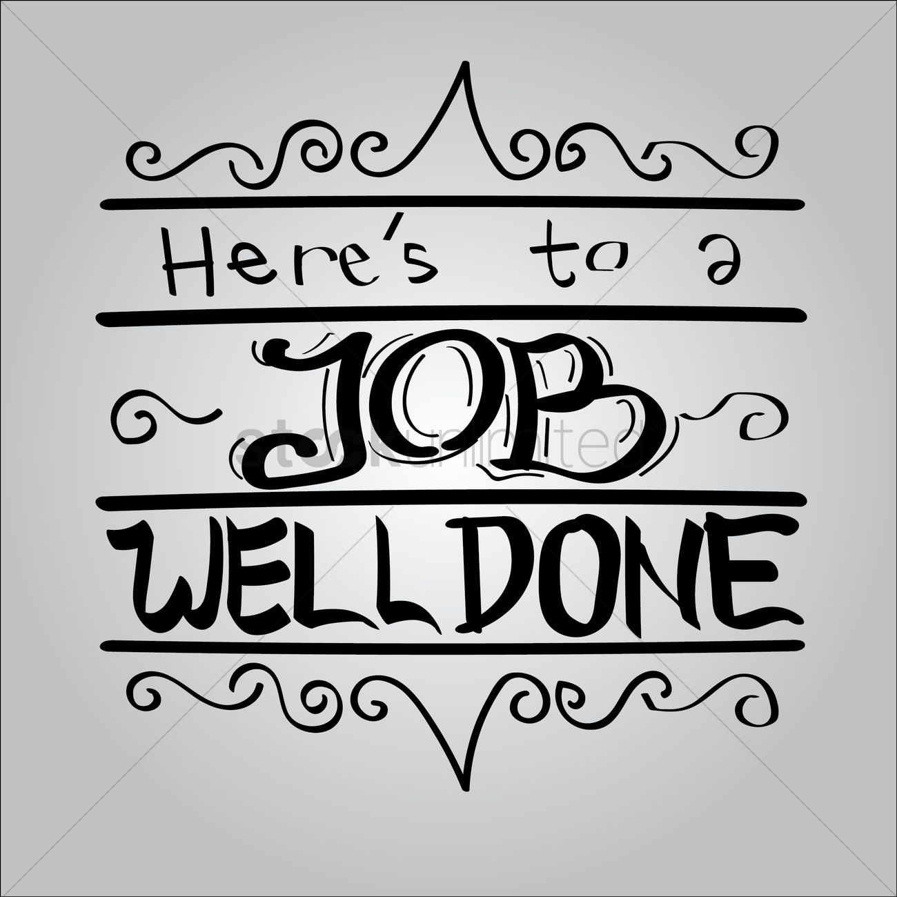 Here's to a job well done Vector Image - 1797456 | StockUnlimited
