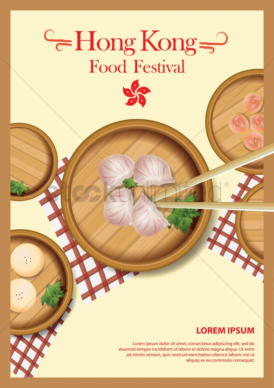 Hong kong food festival poster vector image 1593979 for Cuisine x hong kong