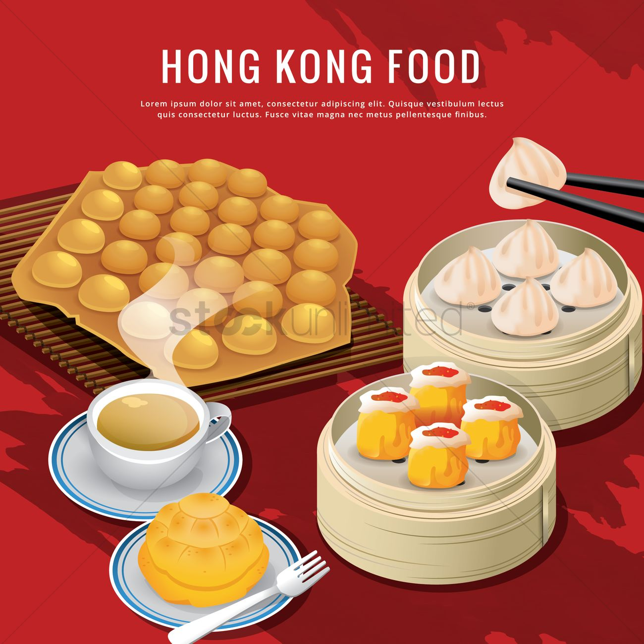 Hong kong food vector image 1594434 stockunlimited for Cuisine x hong kong
