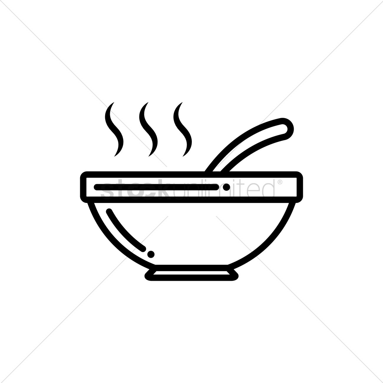 Hot bowl of soup Vector Image - 1484813 | StockUnlimited