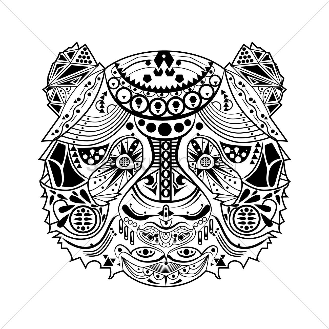 Intricate bear design Vector Image - 1556620 | StockUnlimited Bear Design