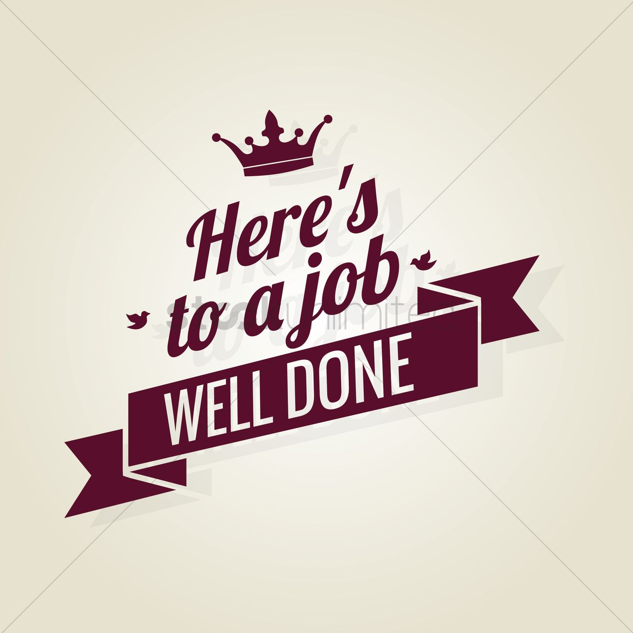 Free Job well done ribbon Vector Image - 1603666   StockUnlimited
