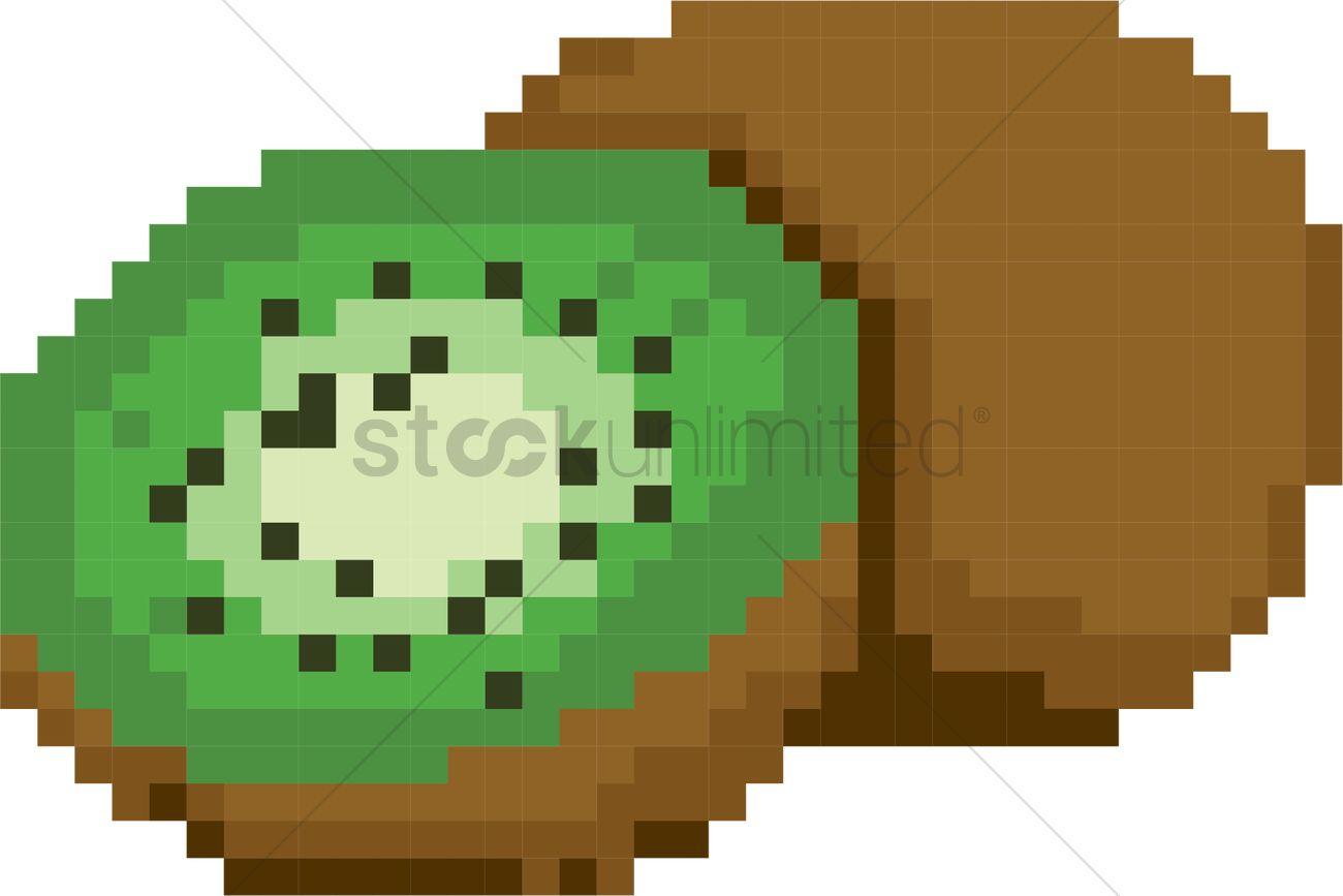 pixel art kiwi