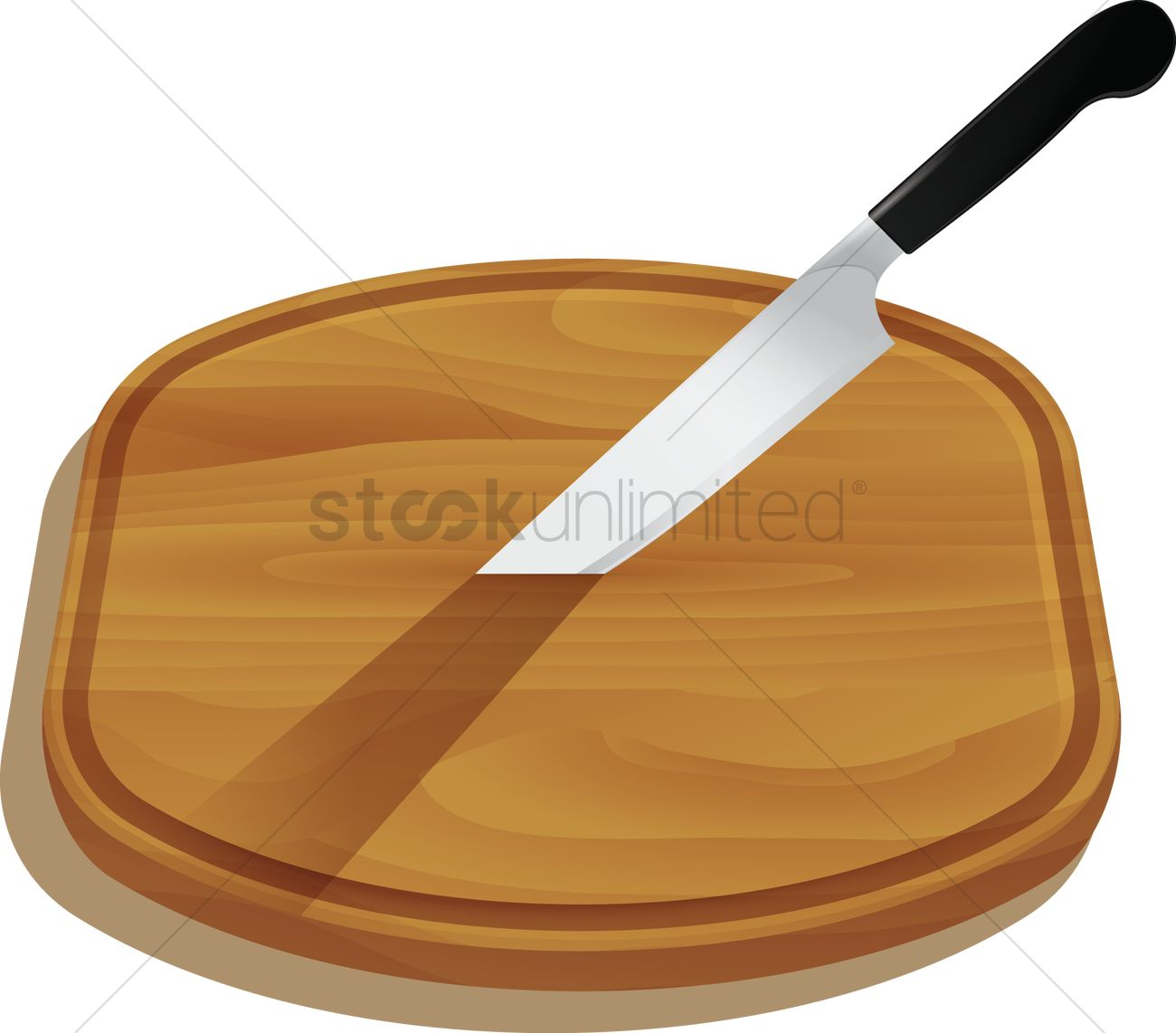 Chopping Board and Knife Clip Art