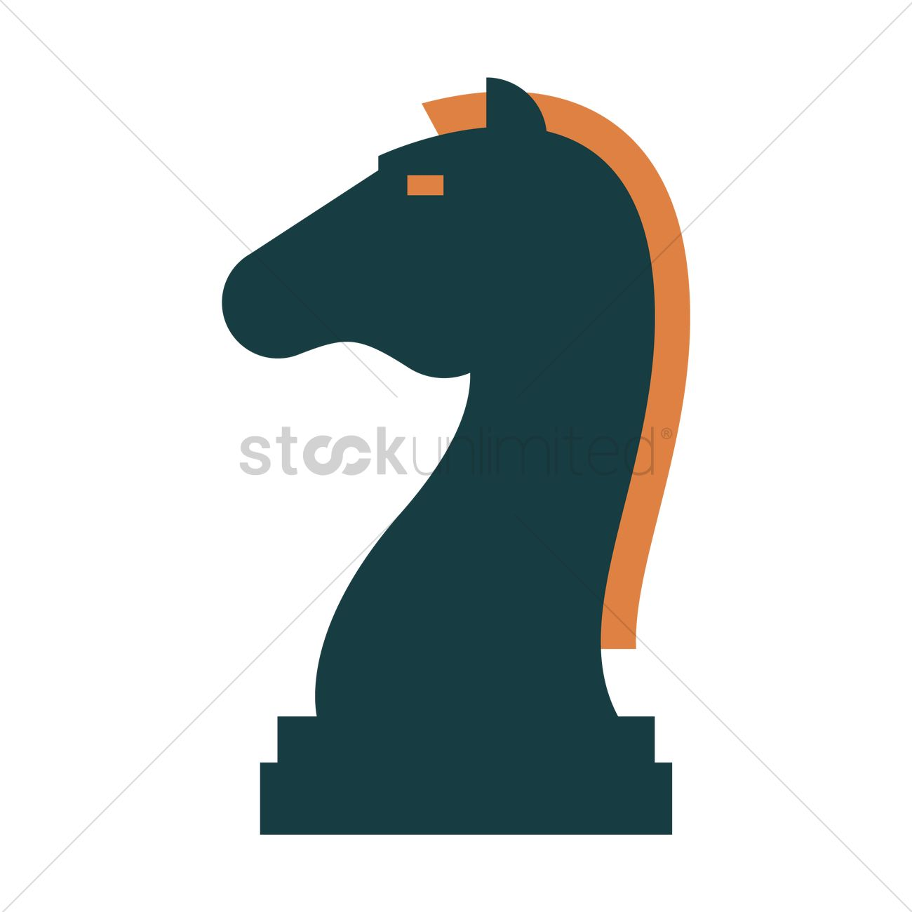 Knight chess piece icon Vector Image - 1898121 | StockUnlimited