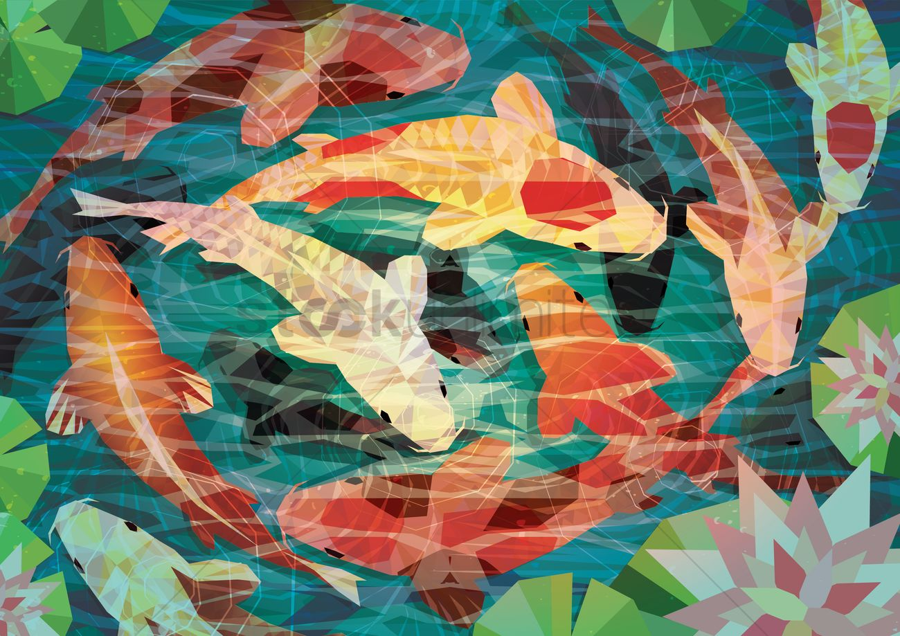 Koi fishes vector image 1384165 stockunlimited for Koi meaning in english