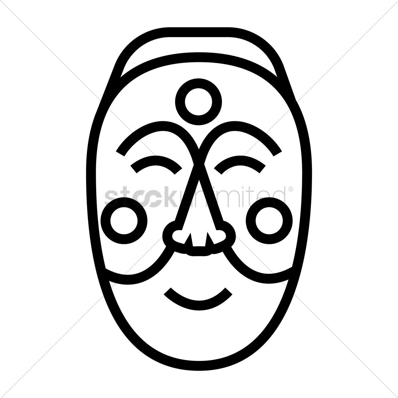 Korean mask Vector Ima...