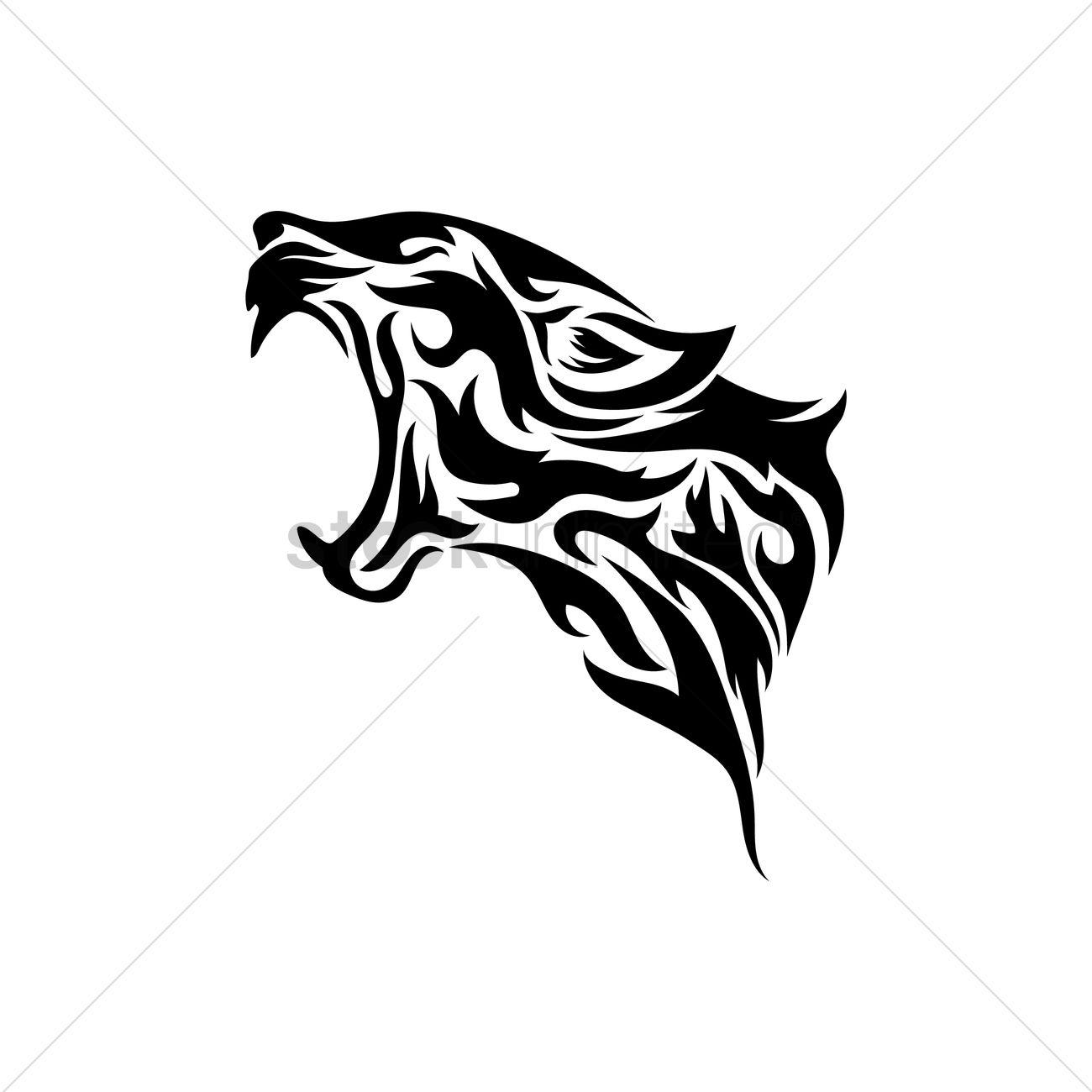 leopard tribal tattoo vector image 1480238 stockunlimited. Black Bedroom Furniture Sets. Home Design Ideas