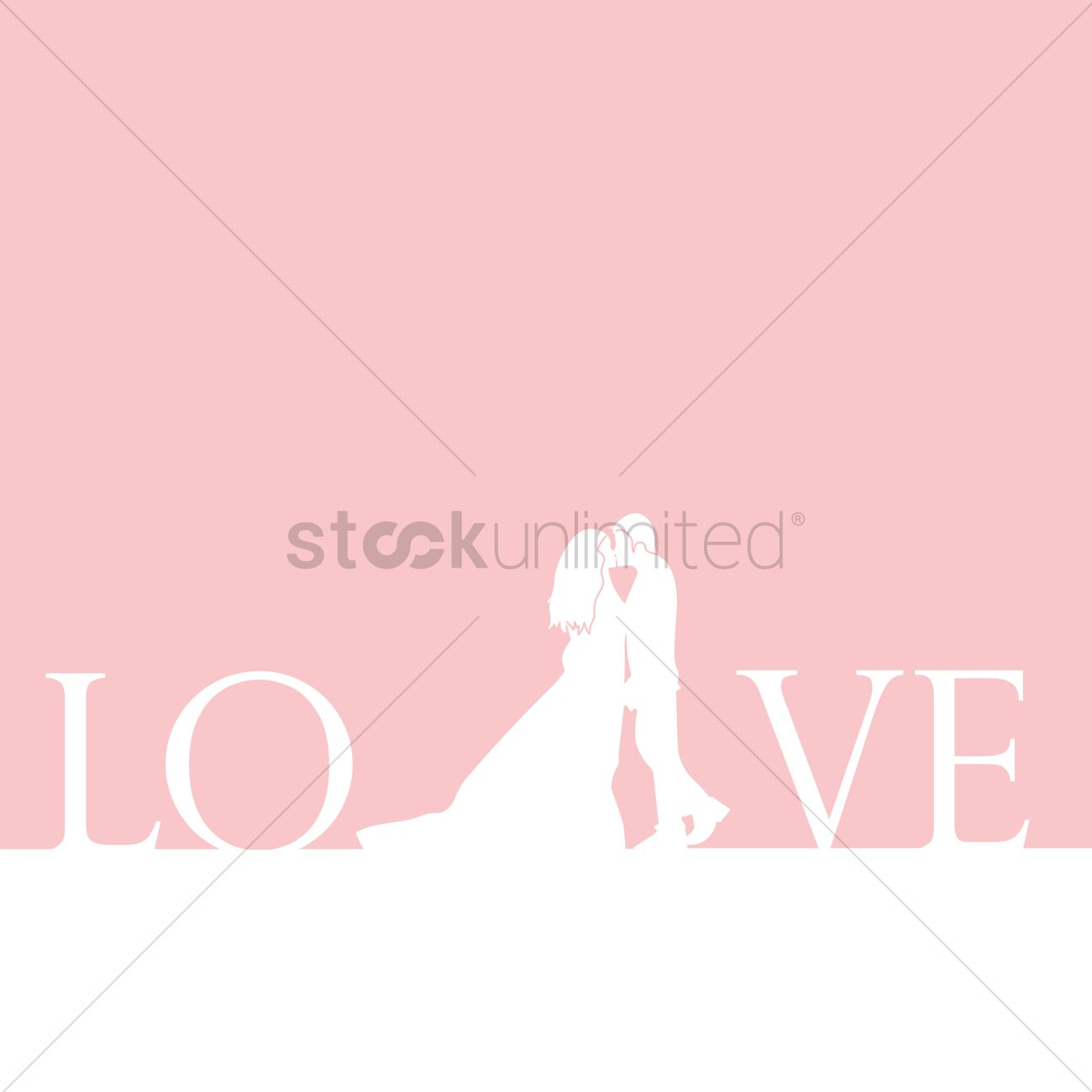 Vector Love cartoon Wallpaper : Love wallpaper Vector Image - 1703402 StockUnlimited