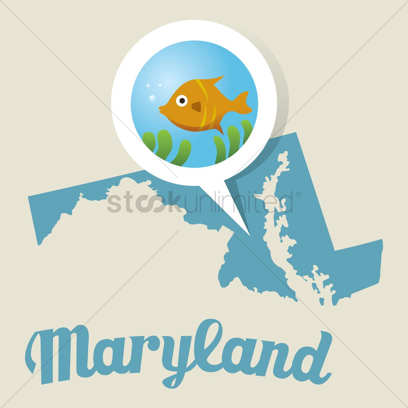 Victor Graphics Inc Baltimore Maryland Area - Maryland map with baltimore aquarium icon vector graphic