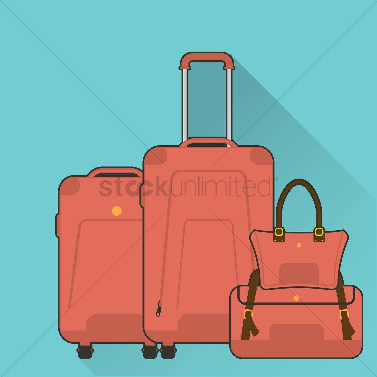 free modern luggage vector image    stockunlimited - free modern luggage vector graphic