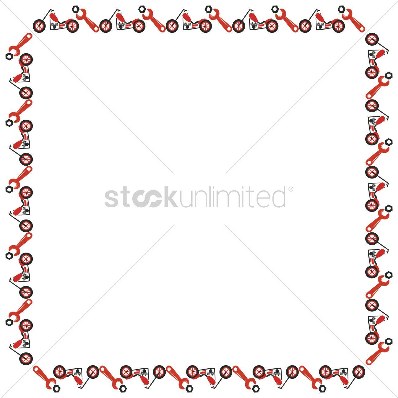 motorbike pattern frame border vector image 1353614 stockunlimited. Black Bedroom Furniture Sets. Home Design Ideas