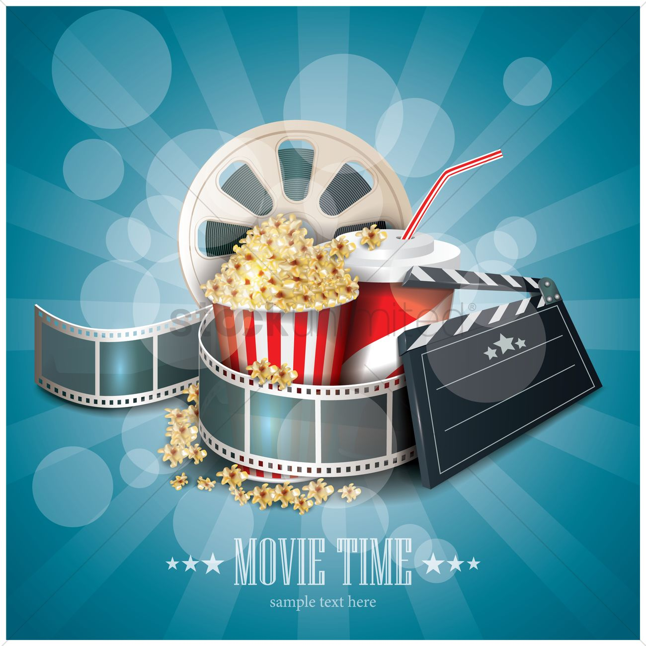 movie time wallpaper vector image 1804978 stockunlimited
