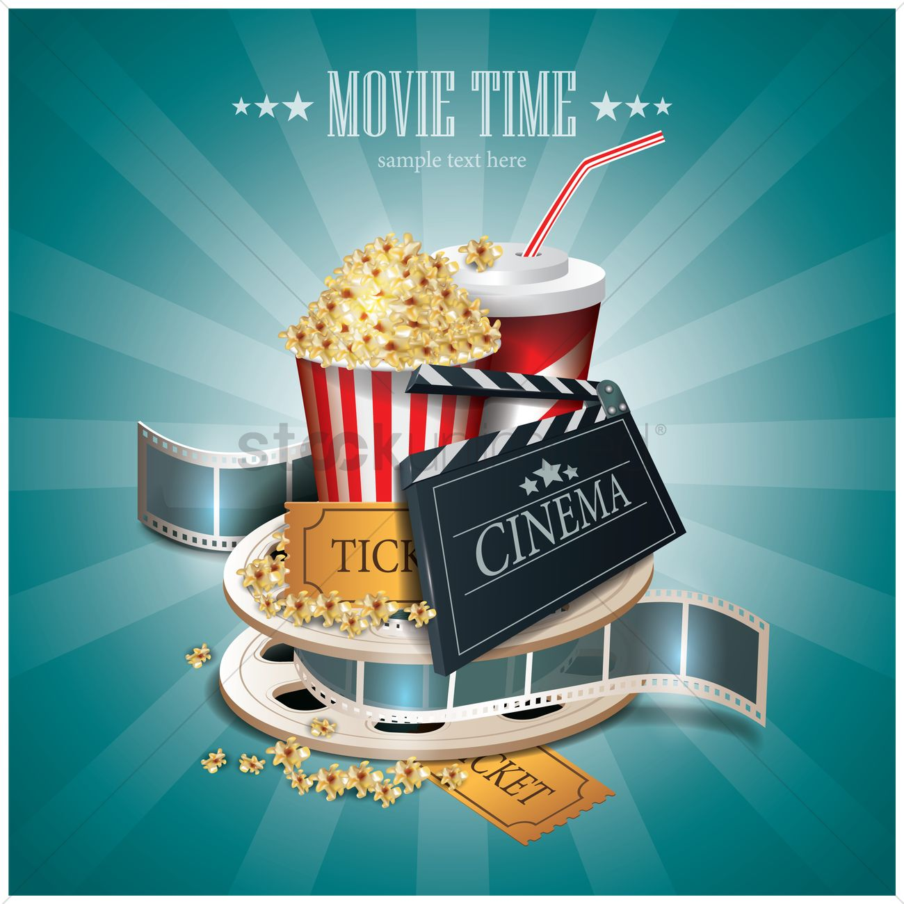 movie time wallpaper vector image 1804982 stockunlimited
