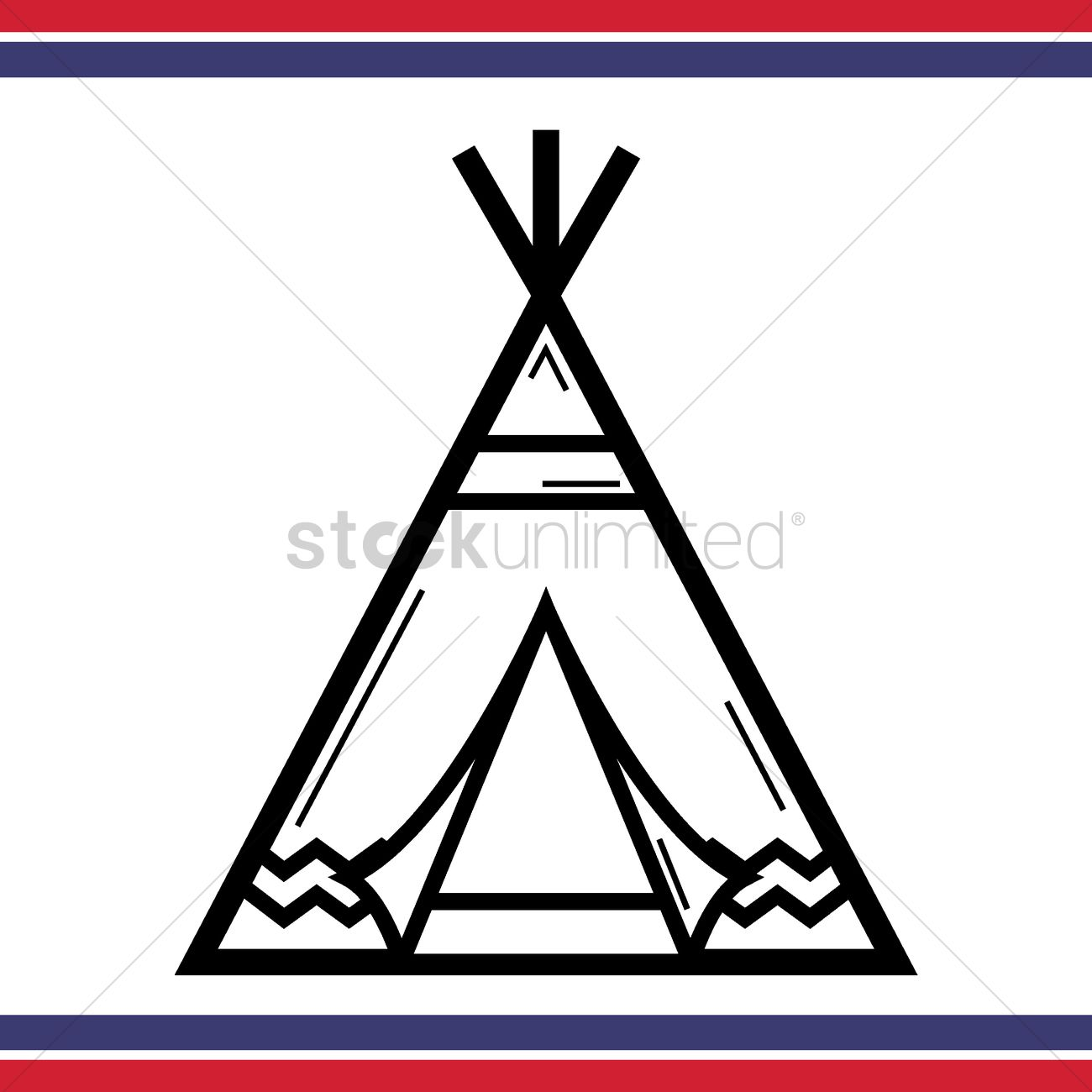 Native american tepee tent Vector Image - 1557592 ...