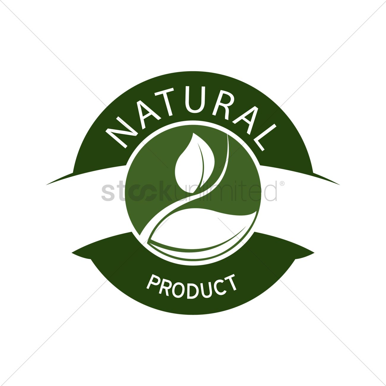 Natural product label design Vector Image - 1420515 ...