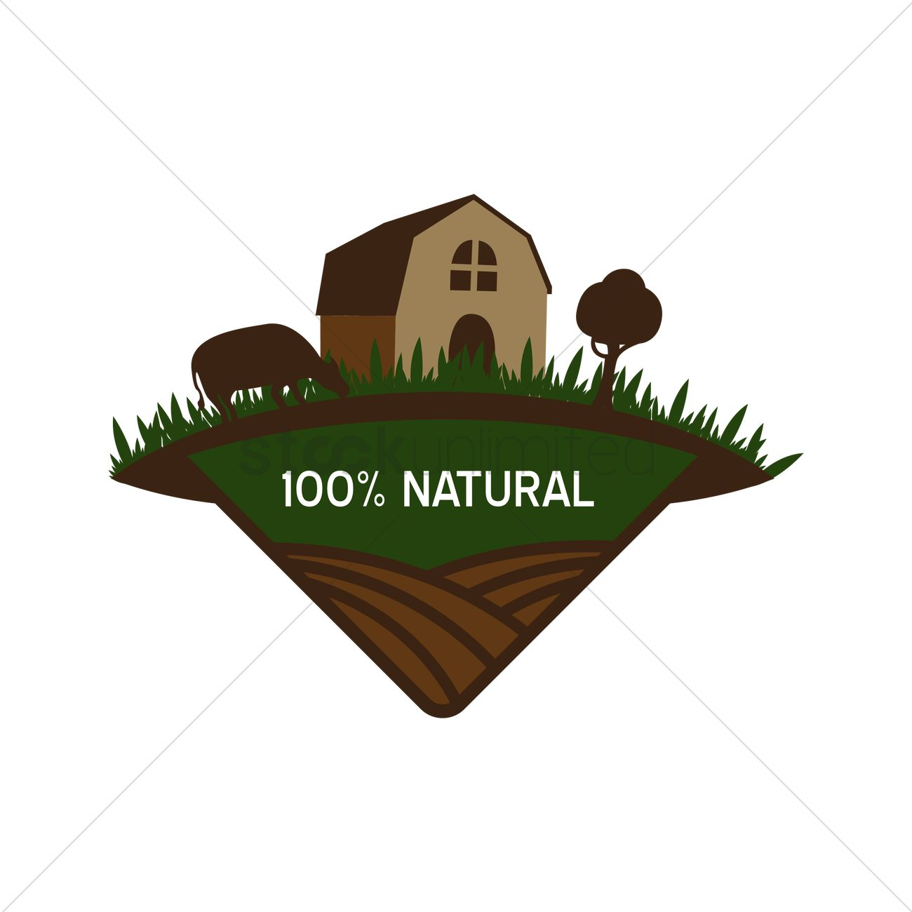 Natural product label design Vector Image - 1420532 ...