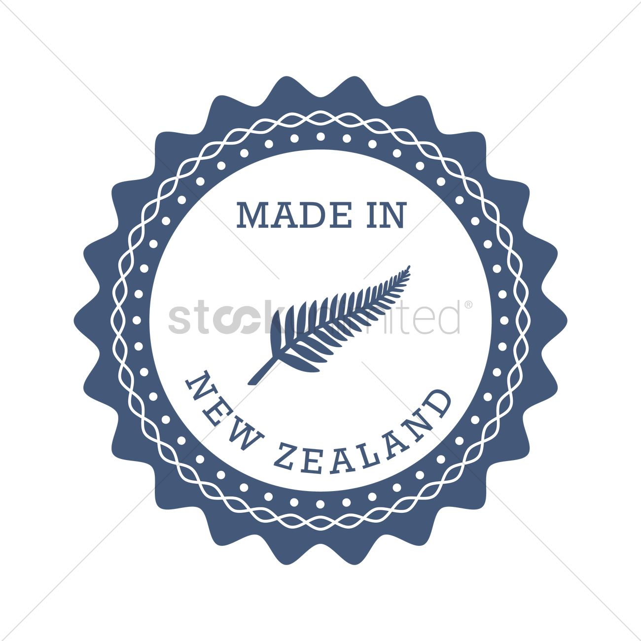 New zealand product label design Vector Image - 2017412 ...