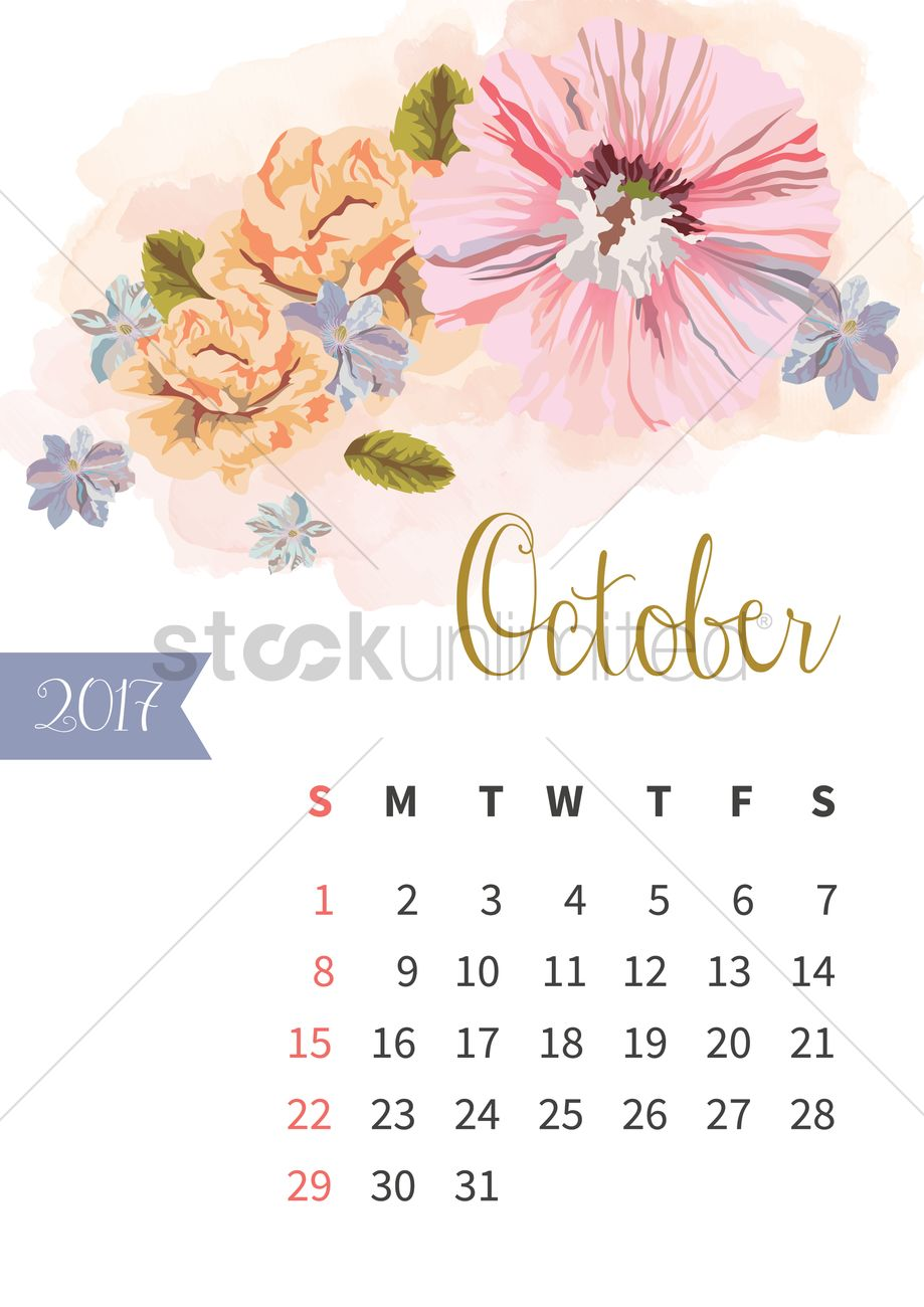 October 2017 Calendar Cute | monthly calendar printable