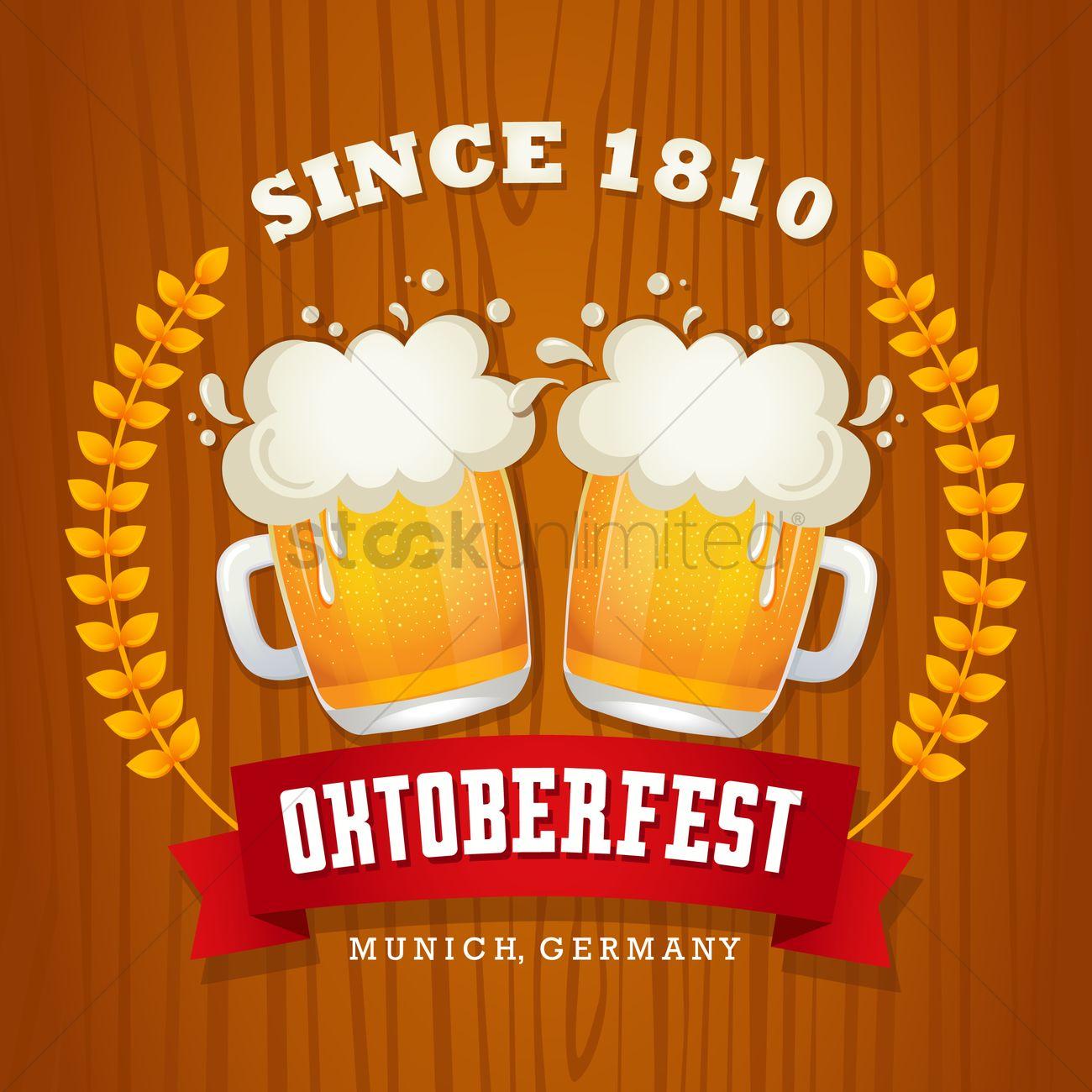 Oktoberfest wallpaper Vector Image - 1480678 | StockUnlimited