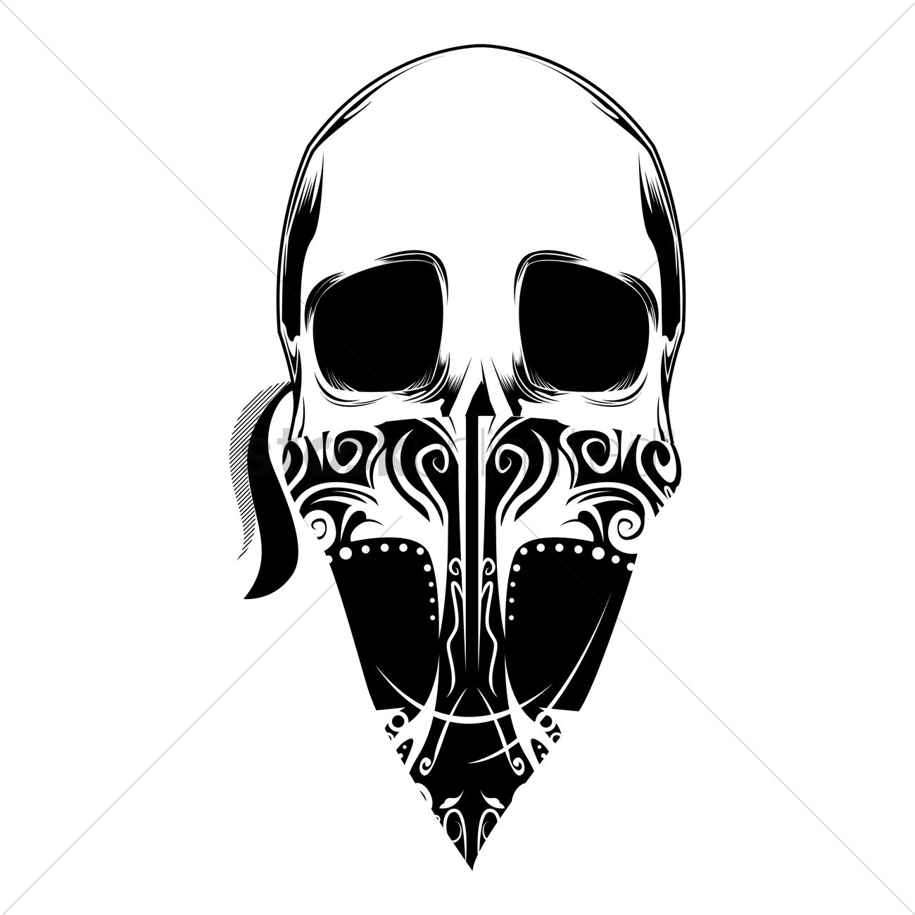 Outlaw skull Vector Image - 1403892 | StockUnlimited