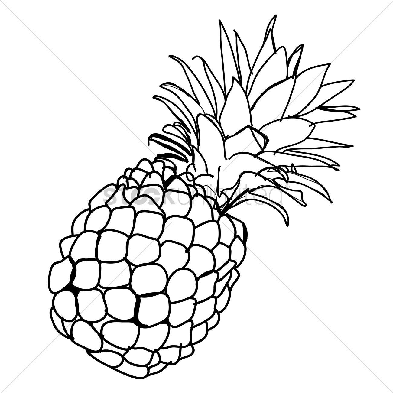 Pineapple Vector Image...